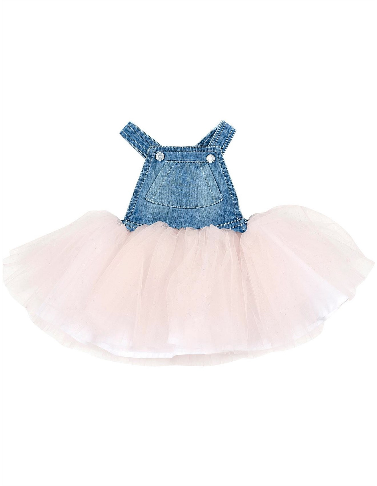 8fca9a8c73 Tweet Denim Overall Dress W Tulle (Girls 3-7 Years)