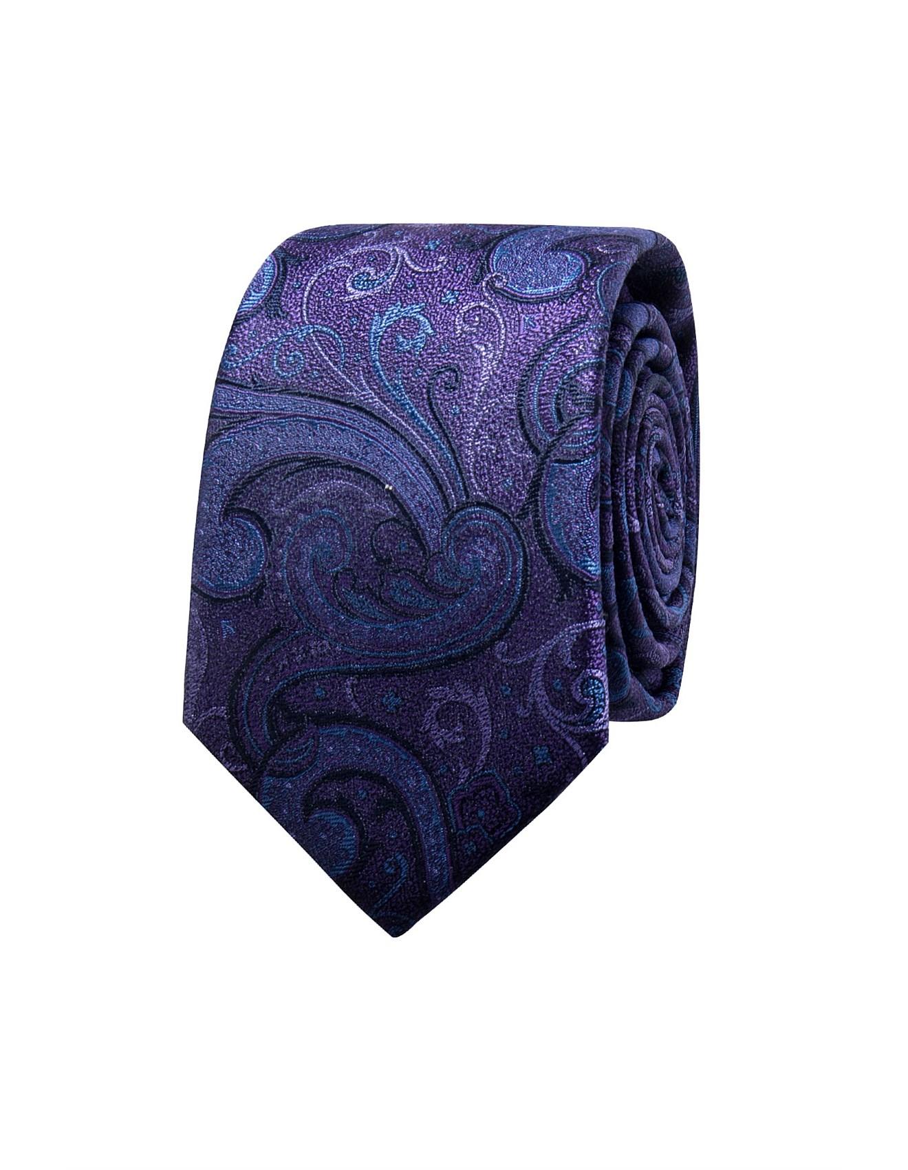 223bb215397e Men's Ties | Skinny Tie, Black Tie, Silk Tie & Knit Ties | David Jones -  LARGE PAISLEY TIE