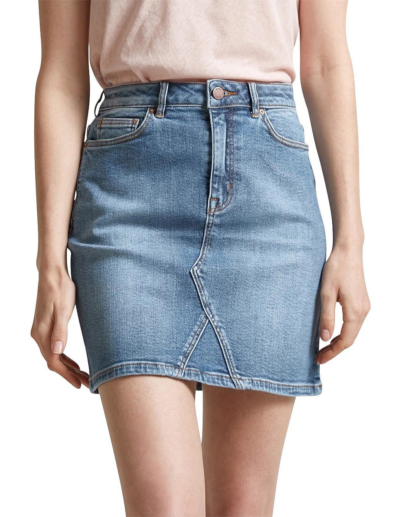 8ca61212cfa01b Denim Skirts | Black & White Denim Skirts Online | David Jones ...
