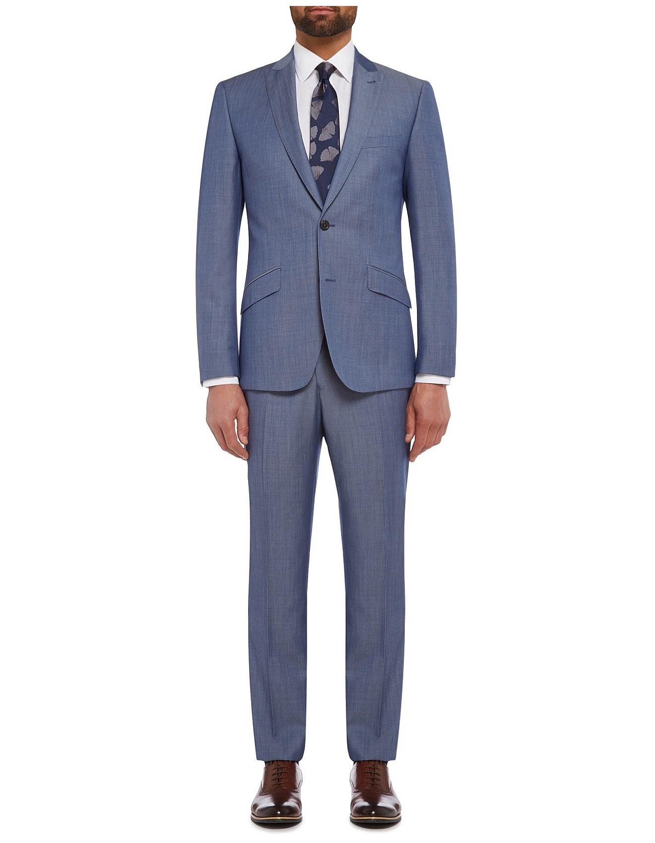 afbb241f Men's Suiting & Formal Wear Sale | Suits For Men | David Jones - WOOL BI  TWILL PLAIN PEAK SUIT