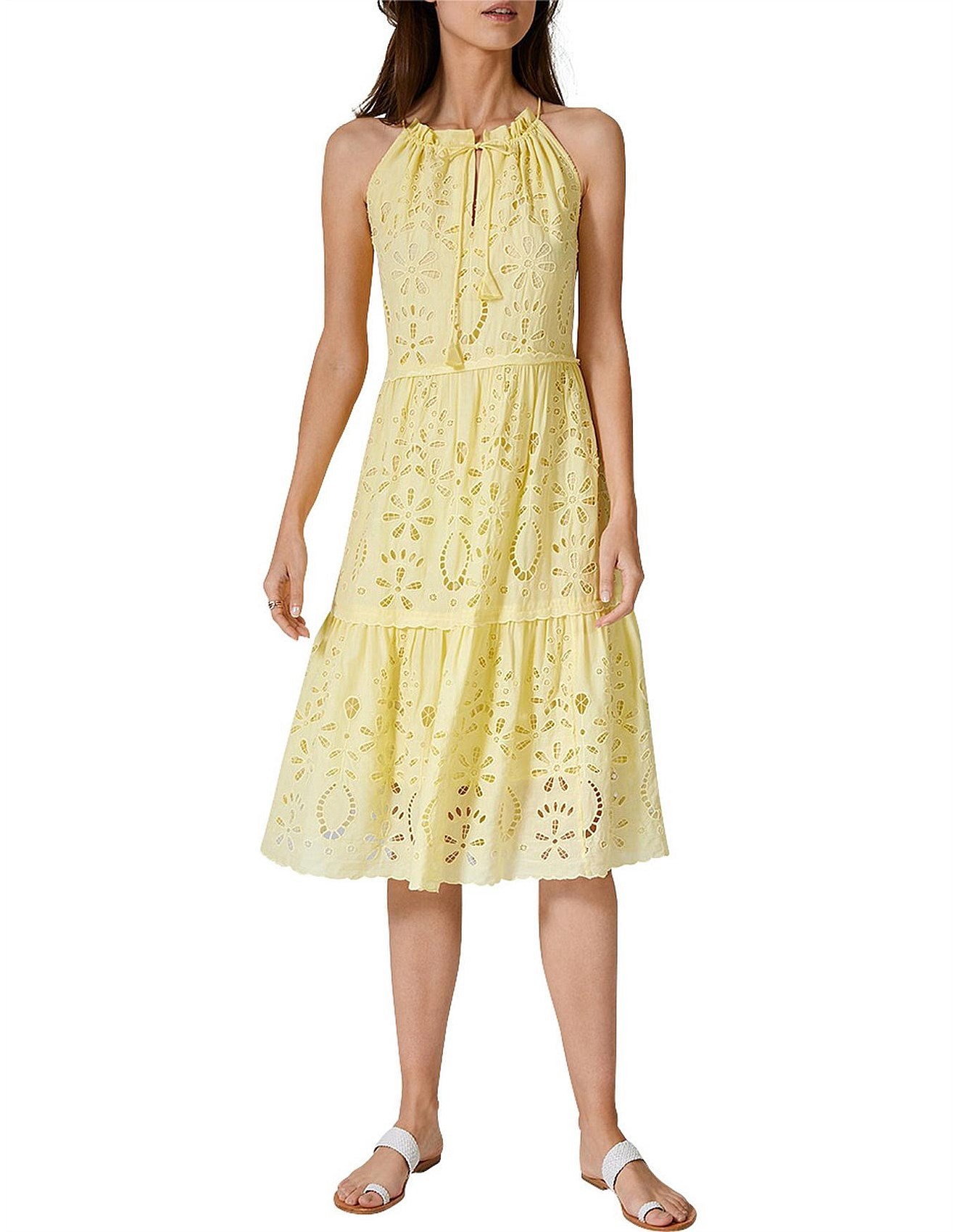 bdf82670ad Day Dresses | Buy Casual Summer Dresses Online | David Jones - Tiered  Broderie Dress