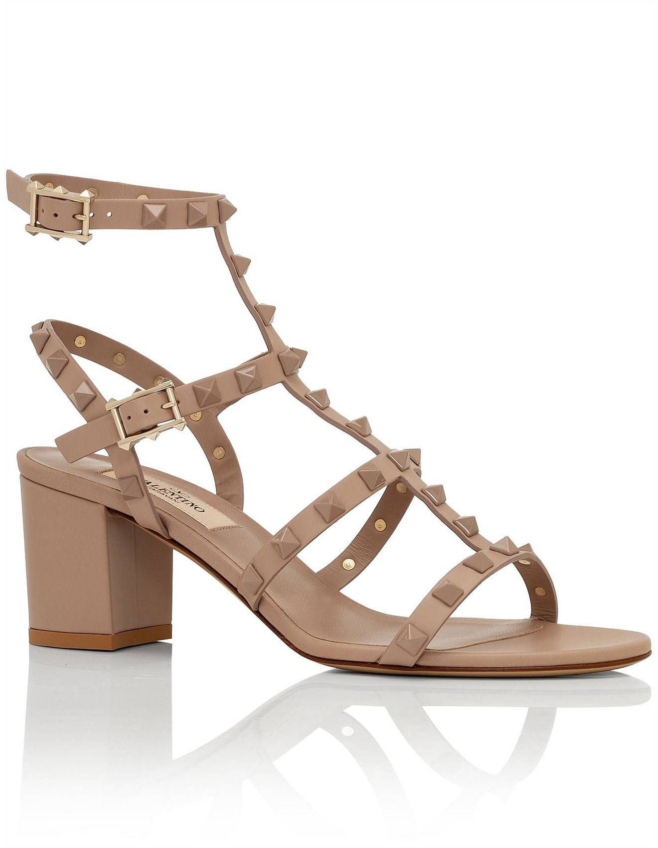 92ce3a9f27a8 Sandals   Thongs - ROCKSTUD 60 LACQUER STUD BLOCK SANDAL