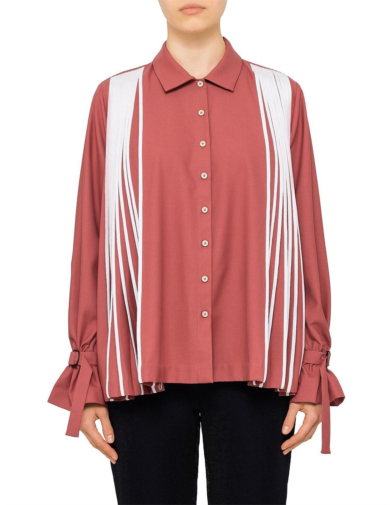 ae72c84f3f Women's Tops Sale | Women's Shirts Sale | David Jones - Flared Pleated Shirt