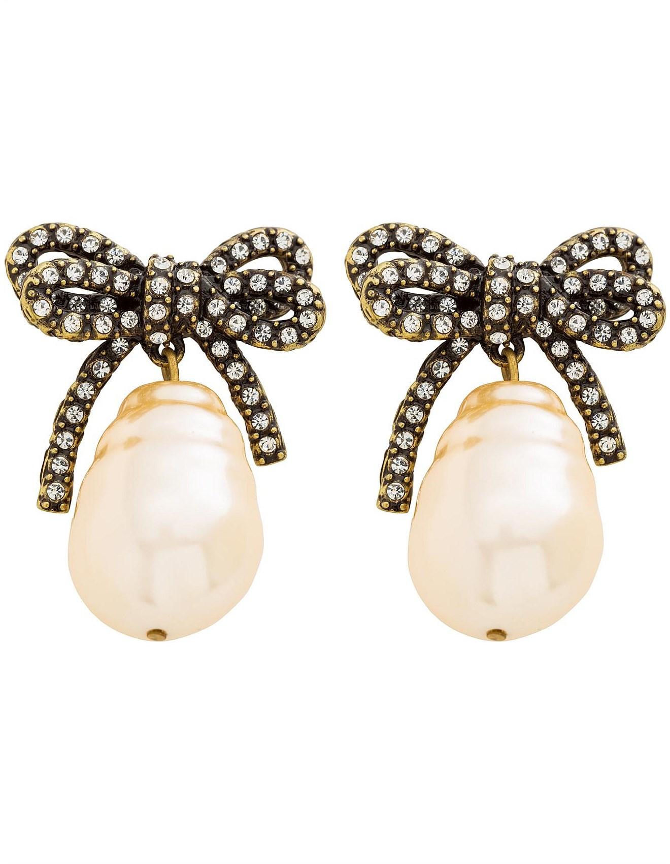 9fc1764c56731 Large Bow Pearl Earrings