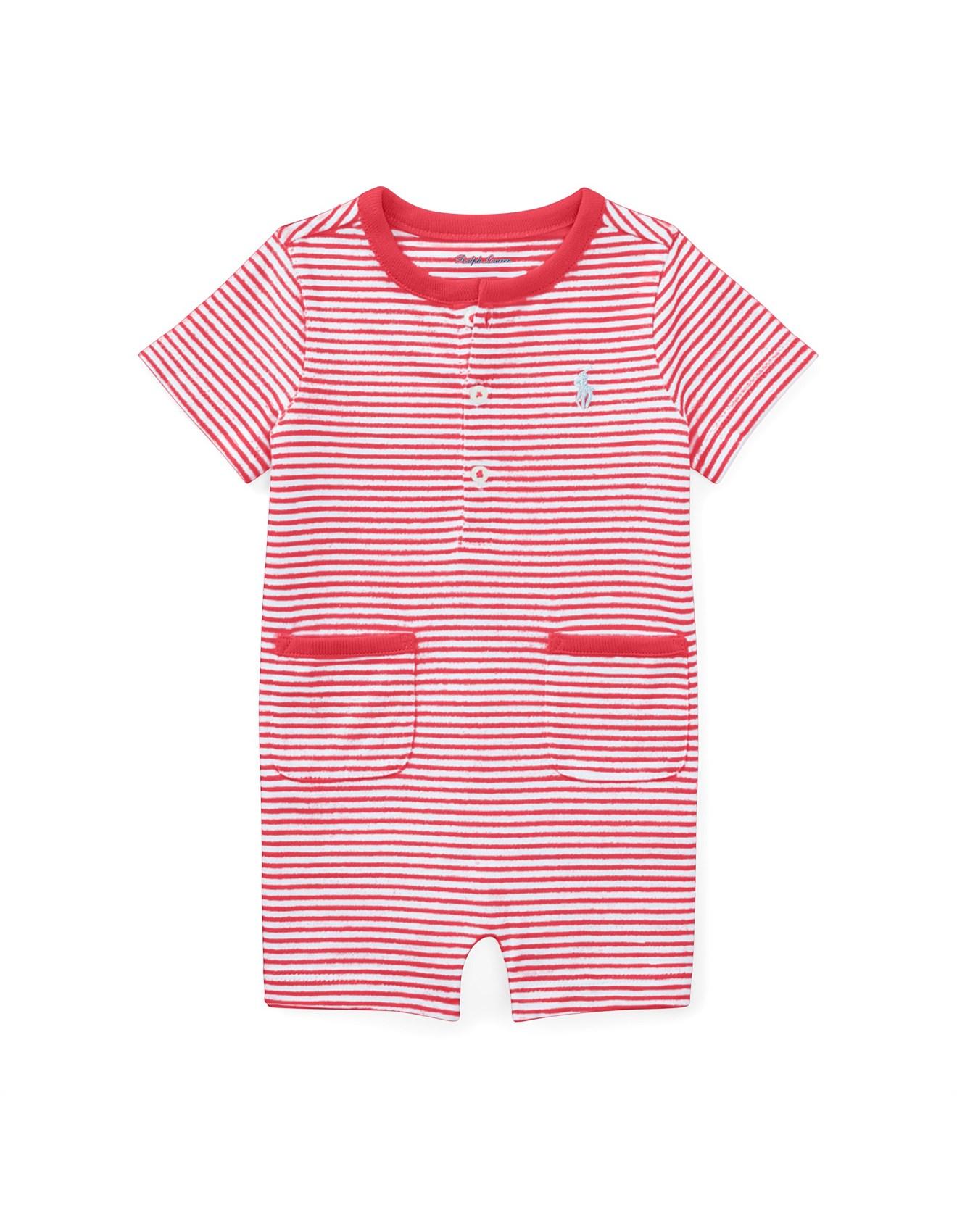 a467b266f Striped Cotton Jersey Shortall(3-24 Months). 1  2. Zoom. Polo Ralph Lauren
