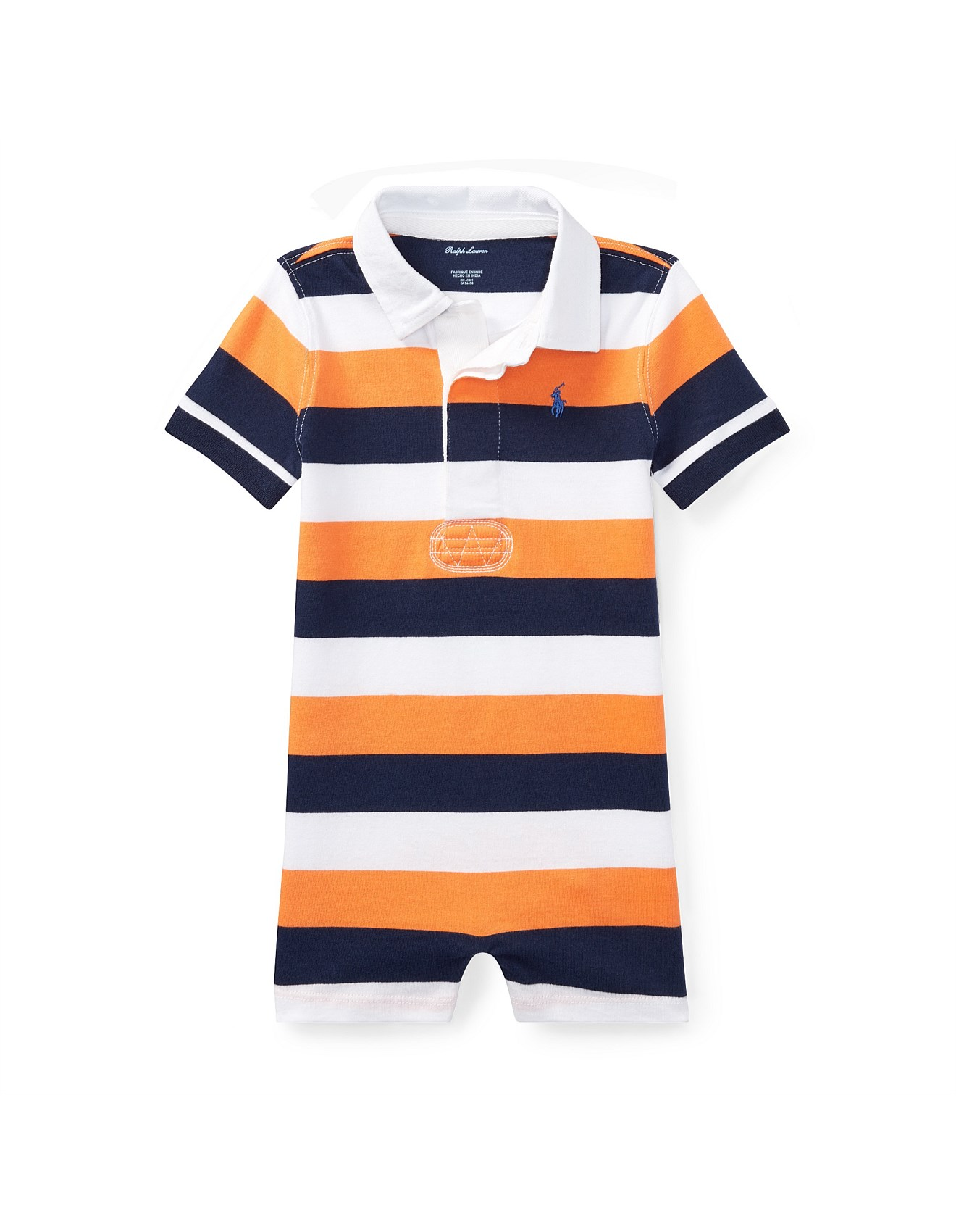 7370e60584ee Baby - Striped Cotton Rugby Shortall(6-24 Months)