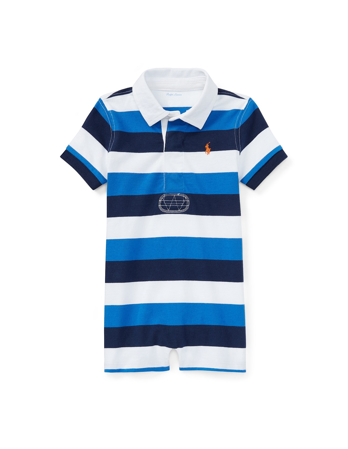 8084c86b3be6 Accessories - Striped Cotton Rugby Shortall(6-24 Months)