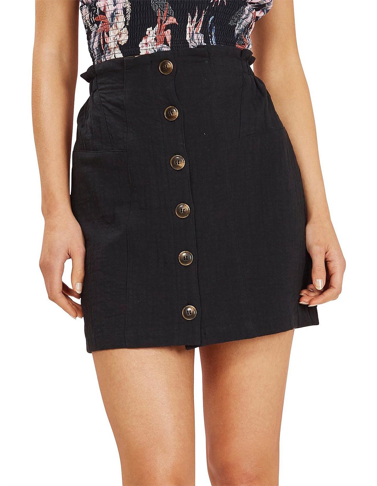 2b86cd04a4 Mini Skirts | Short Skirts & Mini Skirts Online | David Jones - MILA BUTTON UP  SKIRT