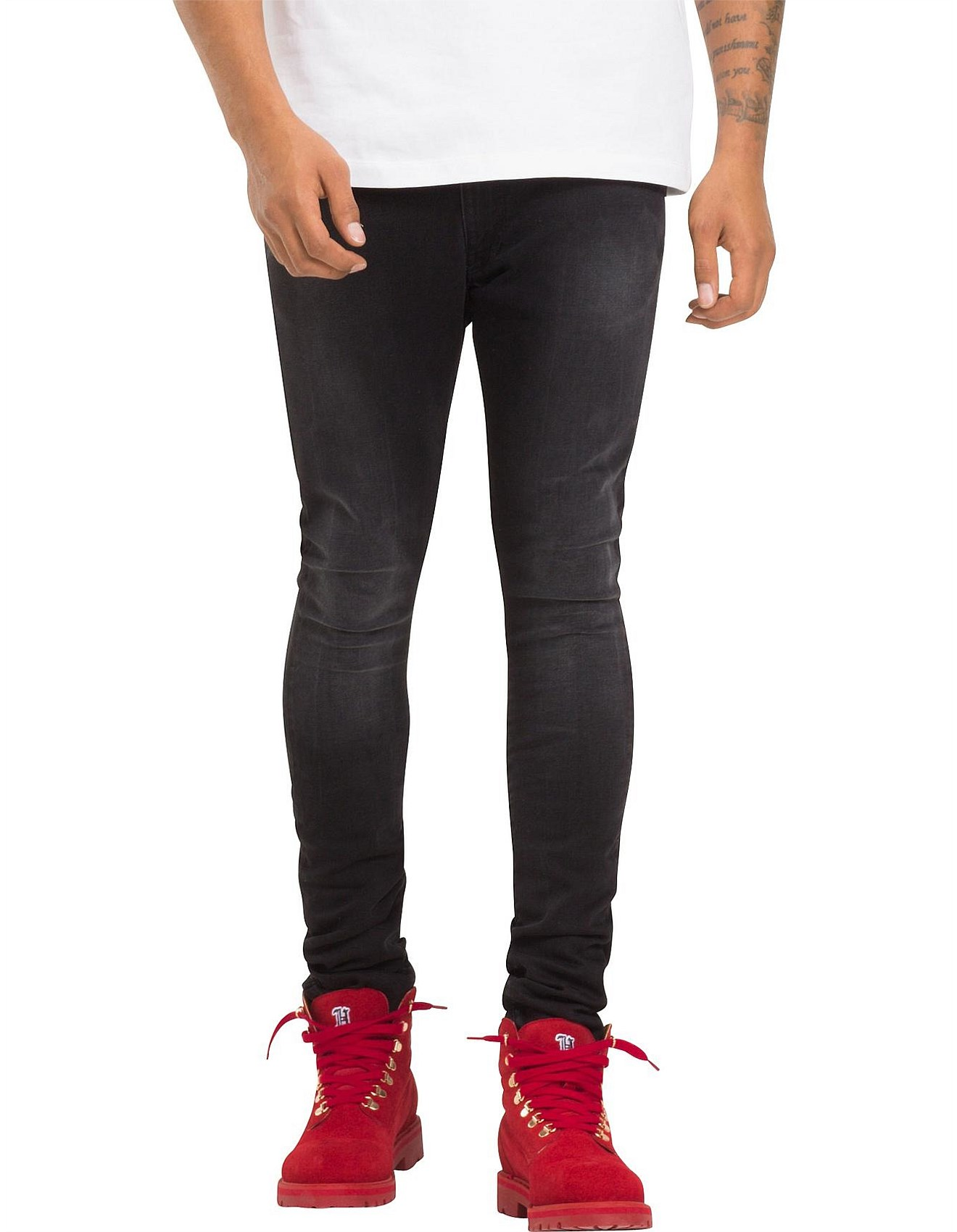 35301ddb Men's Jeans Sale | Black Jeans, Blue Jeans & More | David Jones - LEWIS  HAMILTON BLACK STONE JEAN