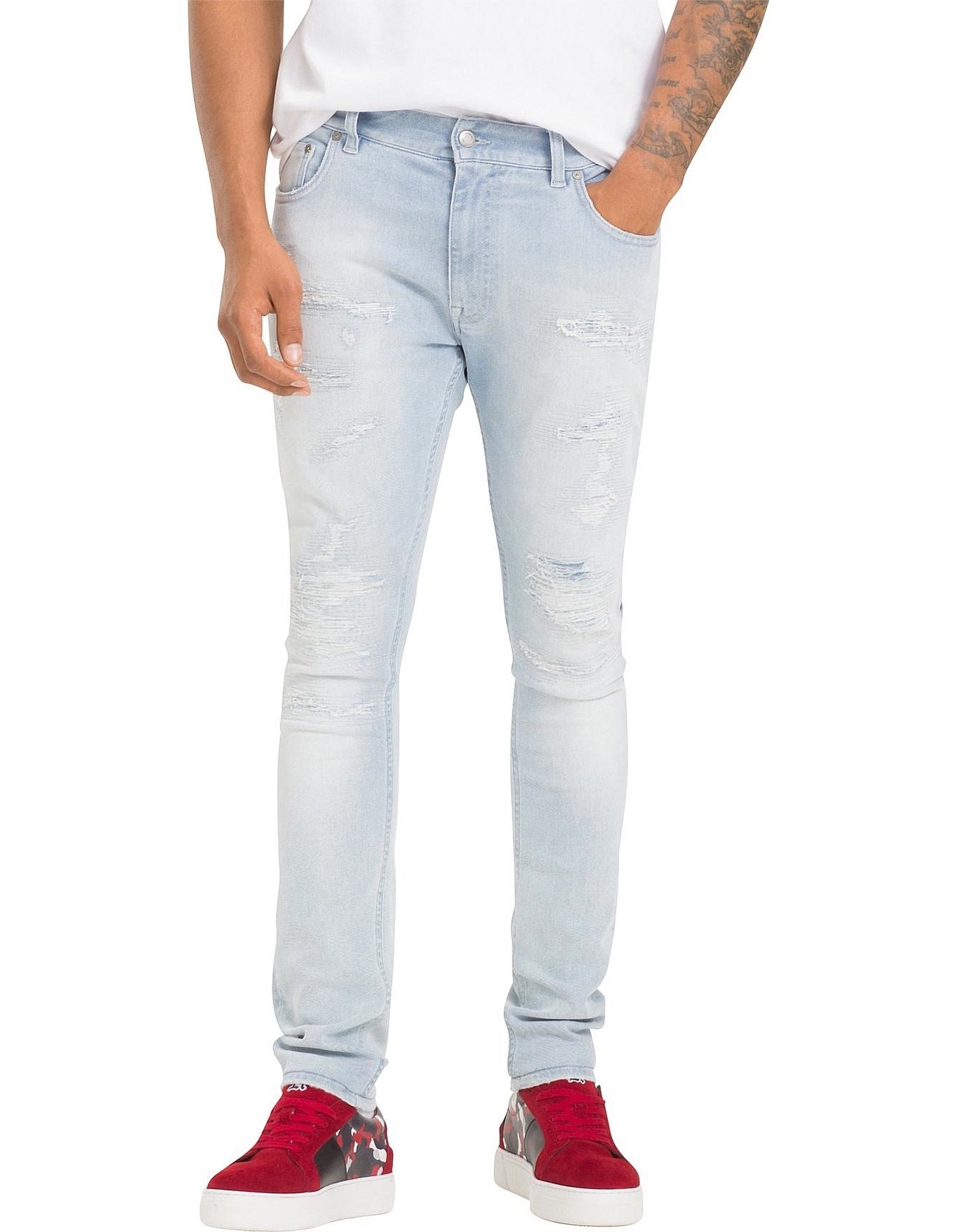 d2e34517 Men - LEWIS HAMILTON DISTRESSED JEAN