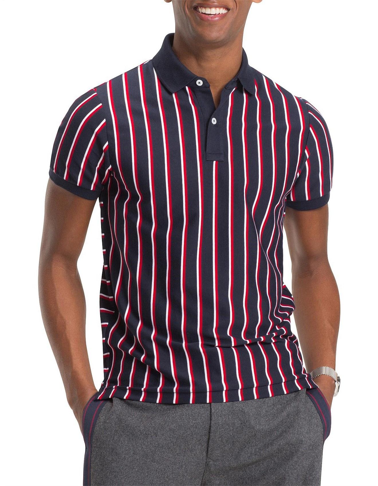 c84a9e3d Men's Polo Shirts Sale | Buy Polo Shirts Online | David Jones - VERTICAL  STRIPE SLIM POLO