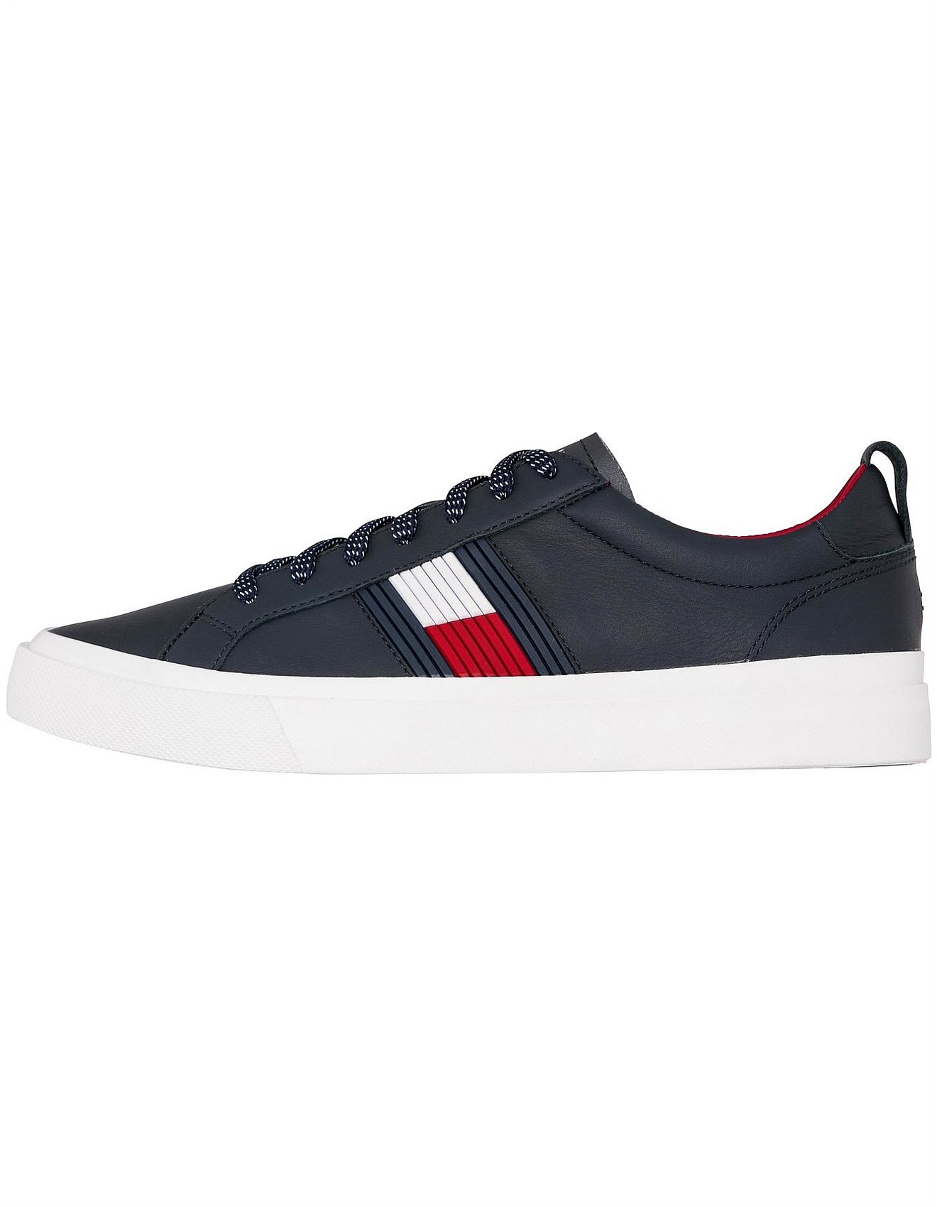 abf869a4f5b162 FLAG DETAIL LEATHER SNEAKER. 1. Zoom. Tommy Hilfiger