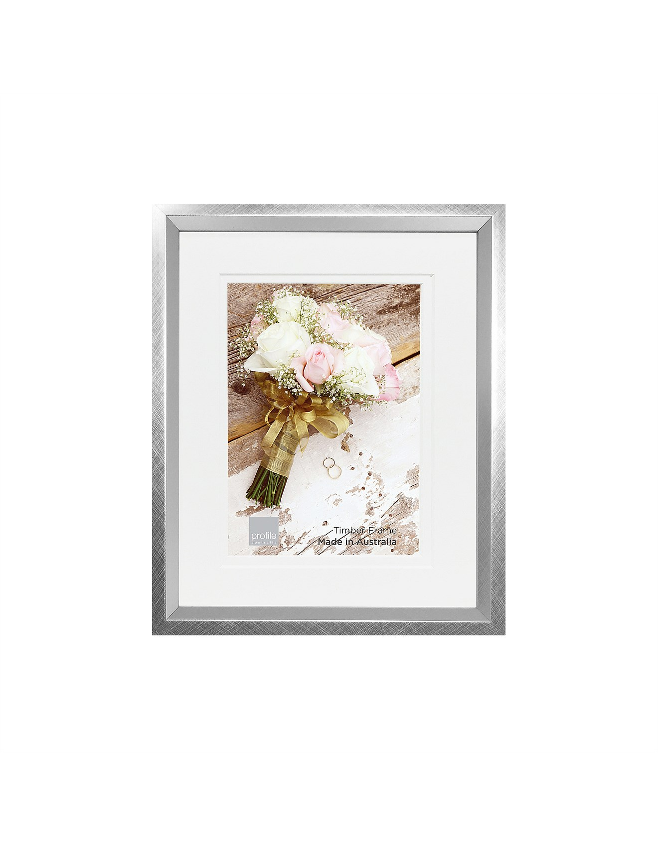 Photo Frames Albums Encore Bevel Silver 8x105x7