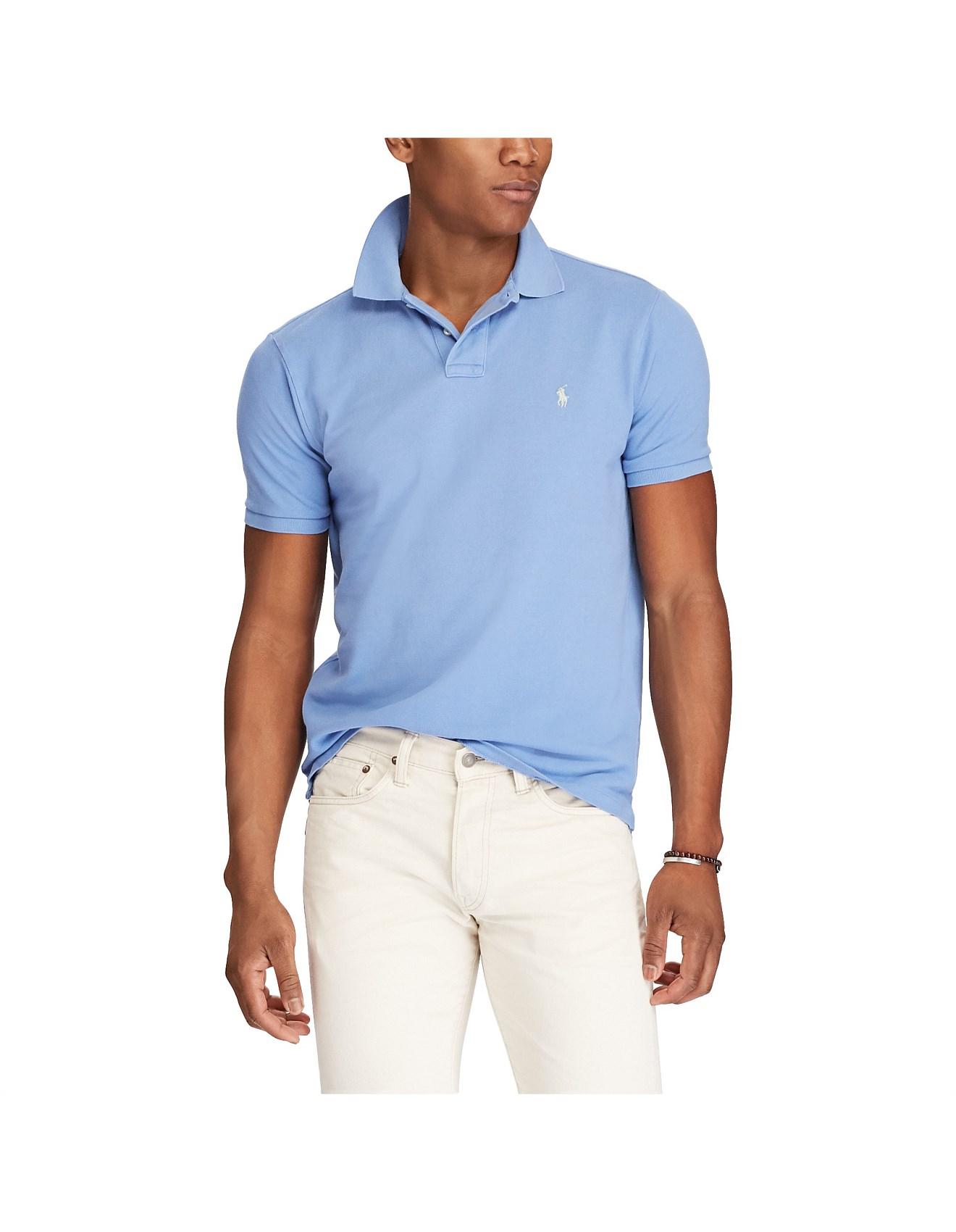 c2e03331 Polo Shirts - Men's Custom Slim Fit Mesh Polo