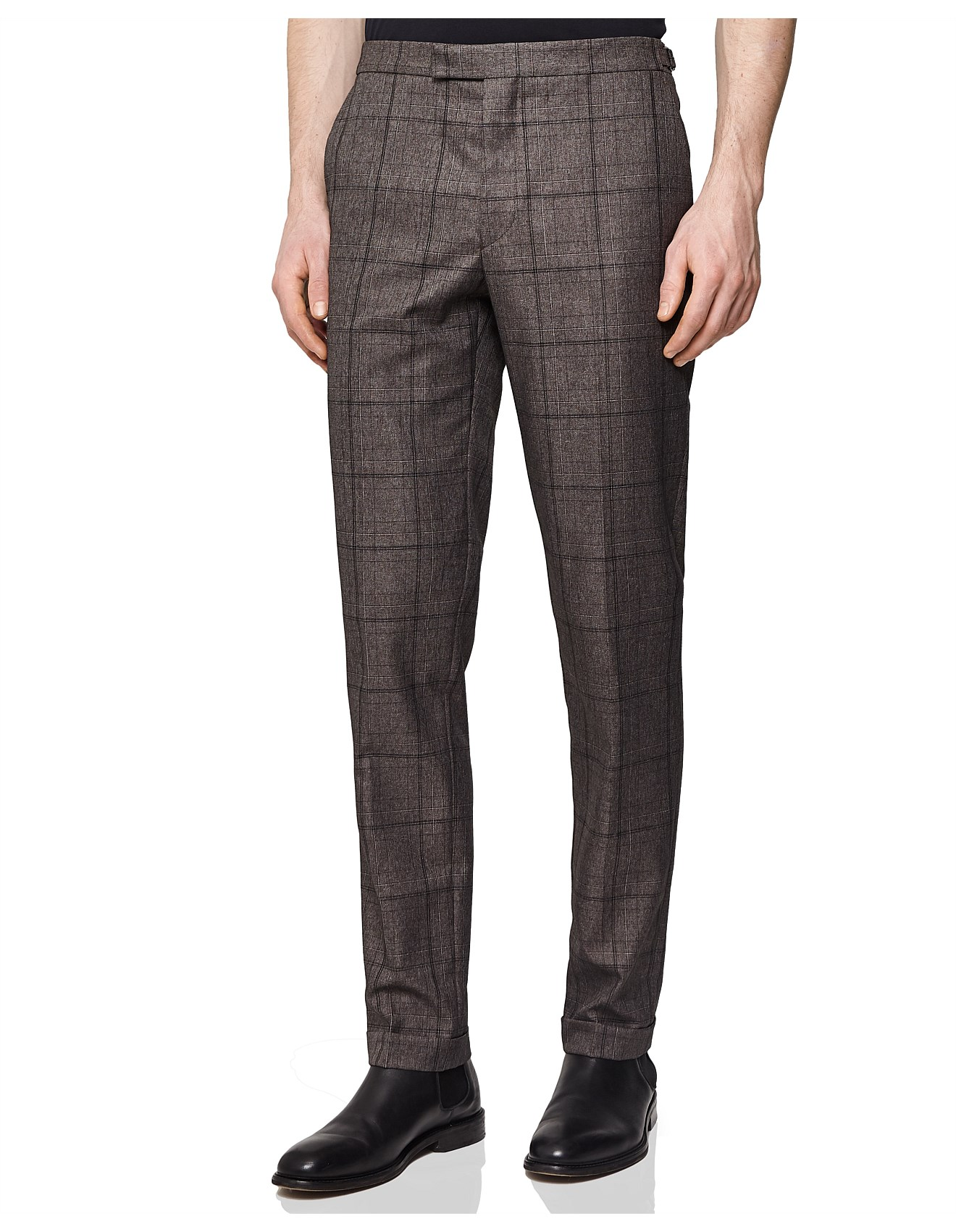 cf895ba35c01 Coats & Jackets - PARKER CHECKED TAILORED TROUSERS
