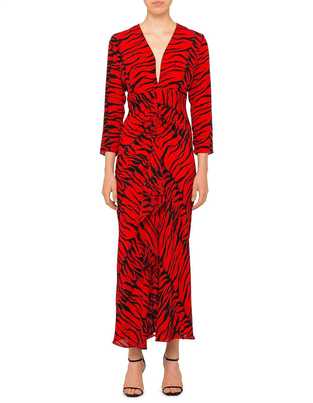917a2752cf17 Women's Dresses   Designer Women's Dresses Online   David Jones - ROSE LONG  SLEEVE V NECK MAXI DRESS