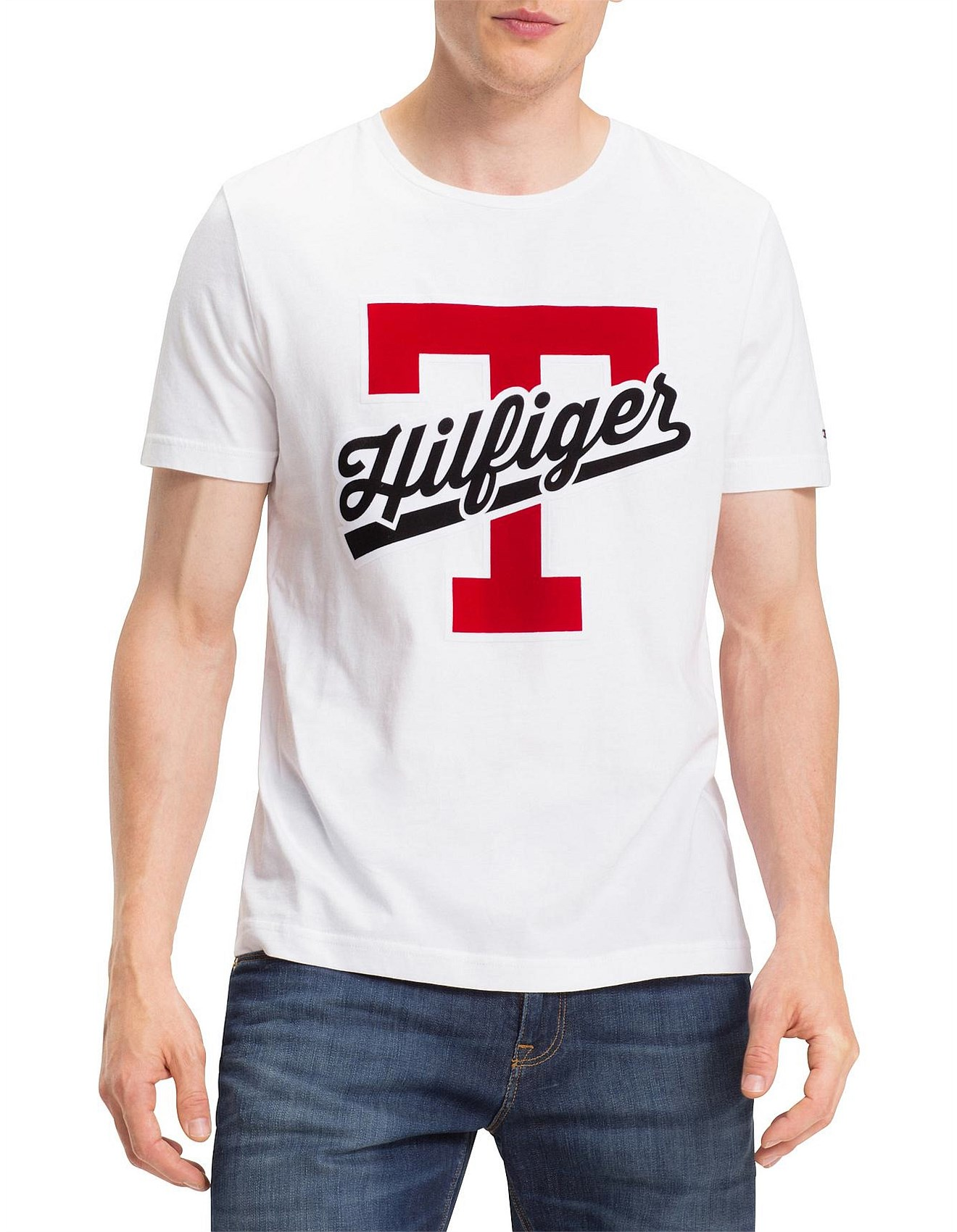 bef626fa2 Tommy Hilfiger | Buy Tommy Hilfiger Online | David Jones - T-SCRIPT LOGO TEE