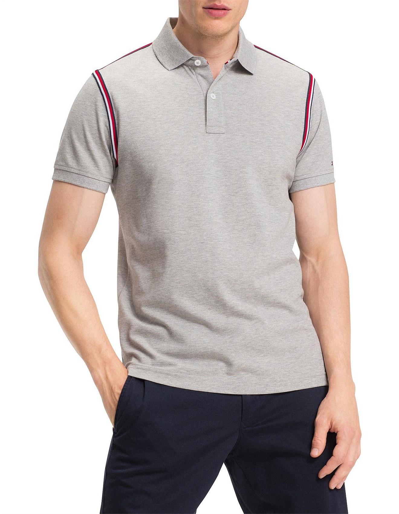 191680a7 Men's Polo Shirts | Buy Polo Shirts Online | David Jones - TOMMY TAPE SLIM  POLO