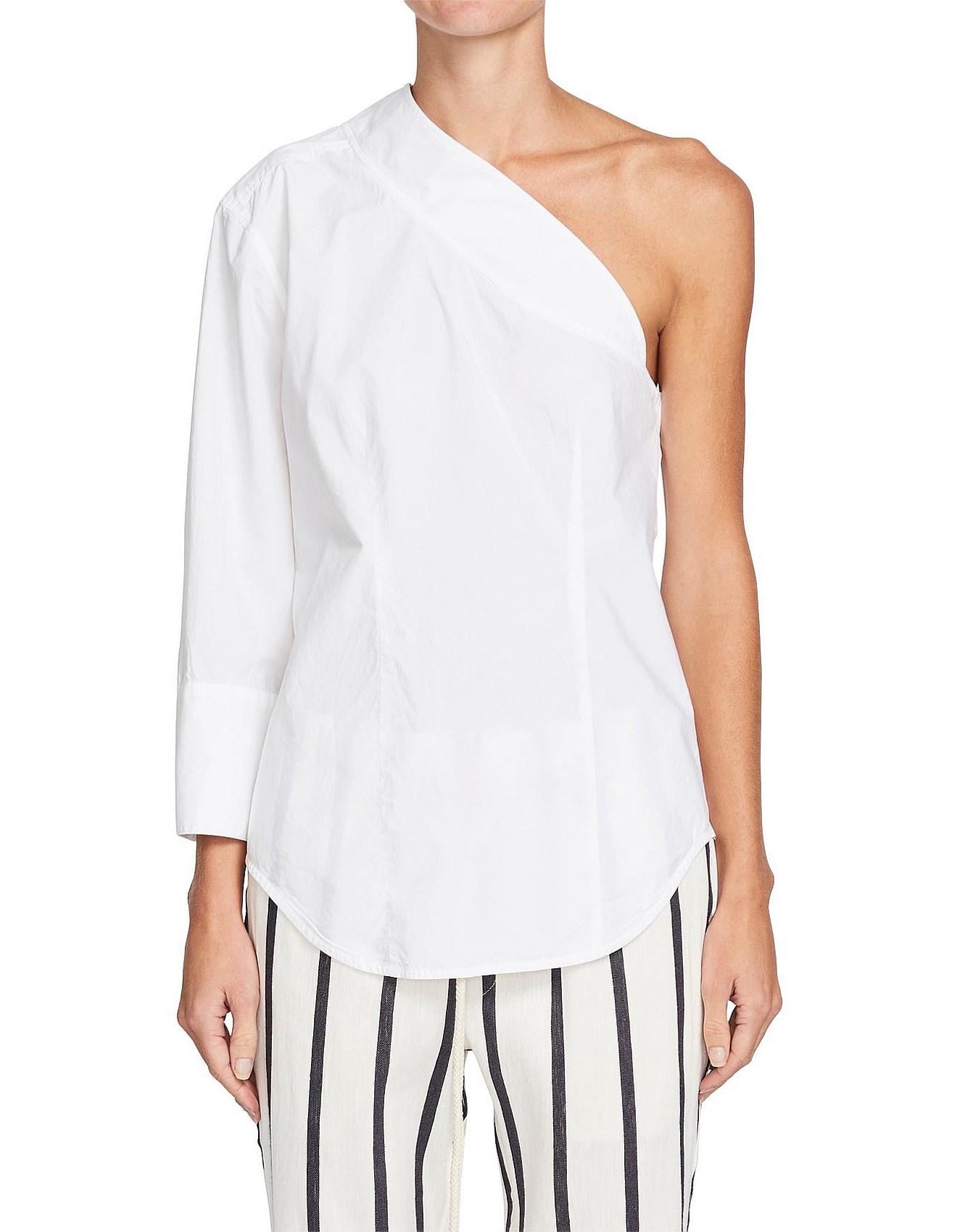 bcfd5d8172681 Cotton One Shoulder Shirt