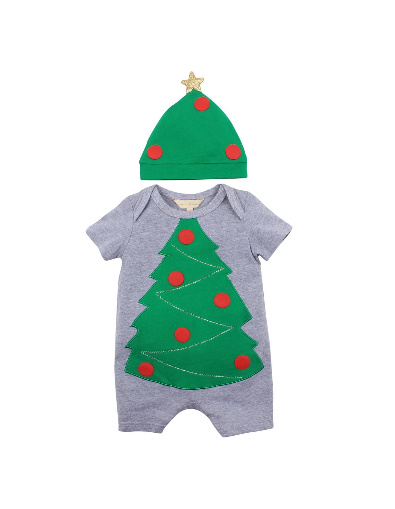 Christmas Tree Hat.Christmas Tree Romper Hat 3 12months
