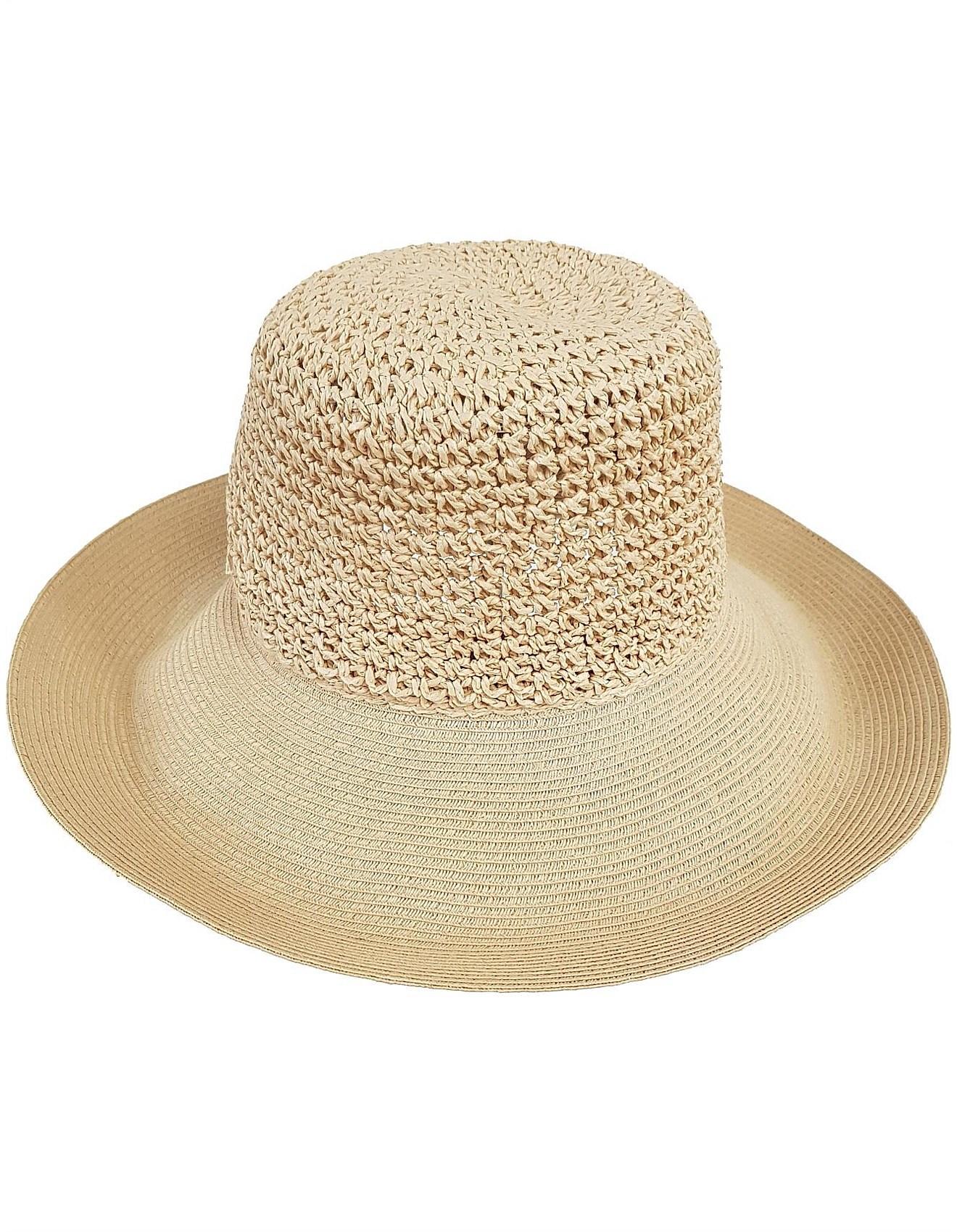 Women - FOLDABLE SUN HAT WITH ADJUSTABLE BRIM c0c4b379605