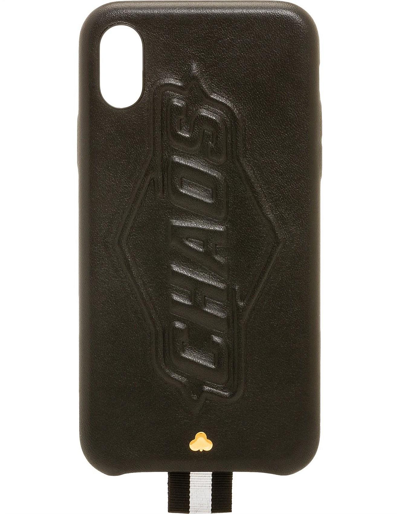 premium selection e48d2 93c2a Designer Sale - BLACK LEATHER BLACKOUT iPHONE X CASE