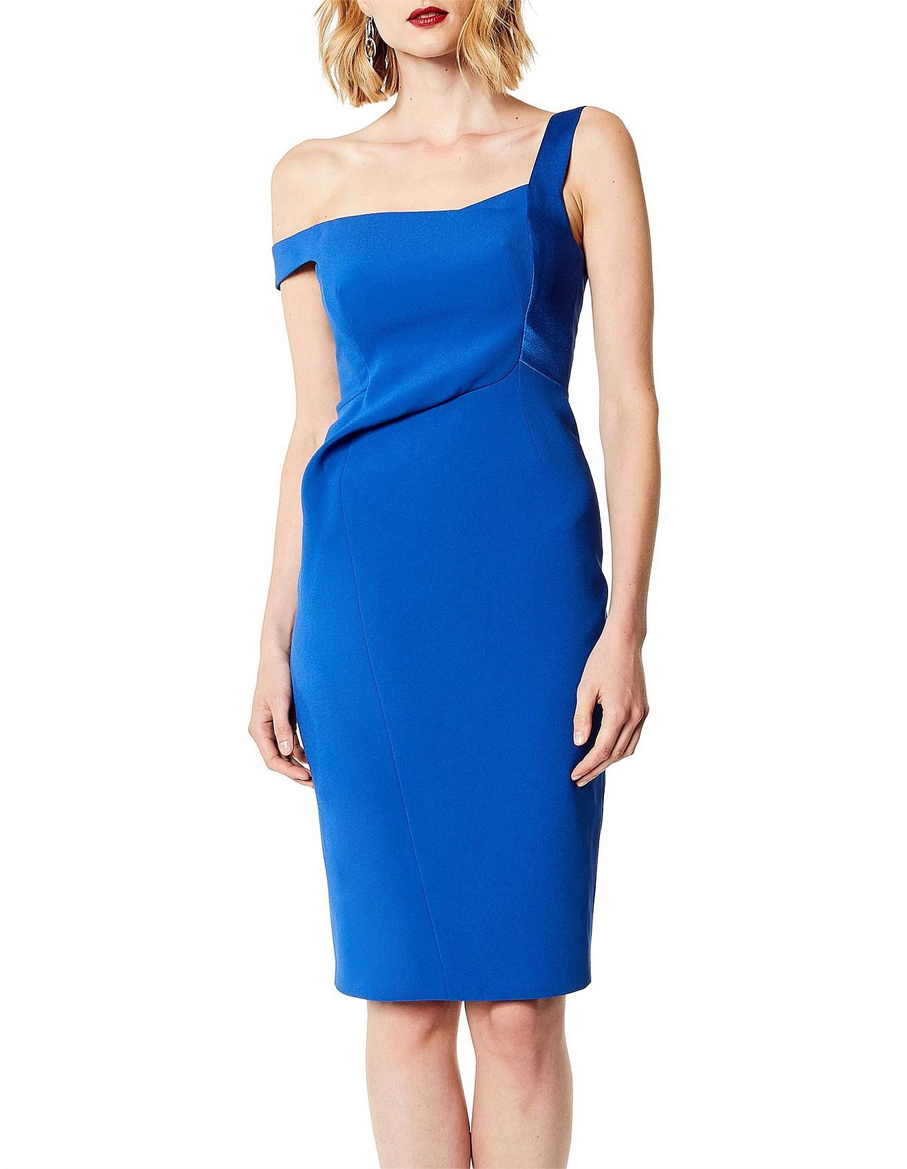 bd2adc267f64 Karen Millen | Buy Karen Millen Clothing Online | David Jones - ASYMMETRIC  STRAP BODYCON DRESS