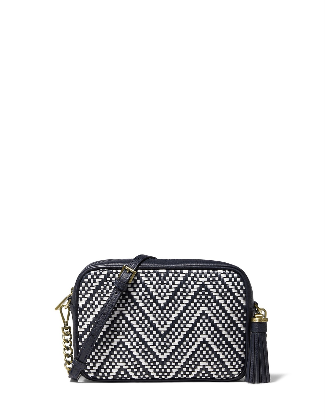 b0a8366fe Wallets - Ginny Medium Bicolor Woven Leather Crossbody