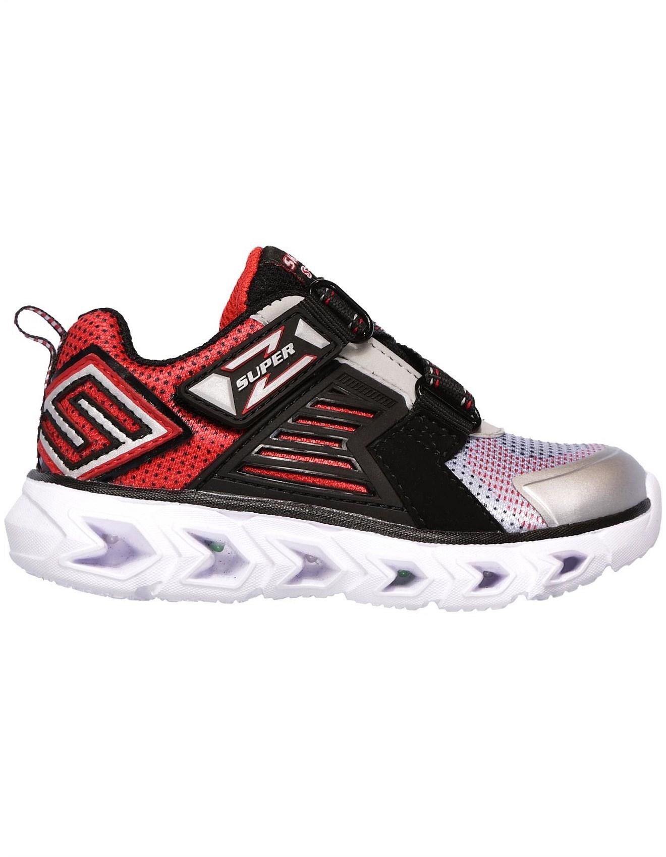 Choose SZ//Color Skechers Kids Boys Hypno Flash Z Strap Light up Sneaker