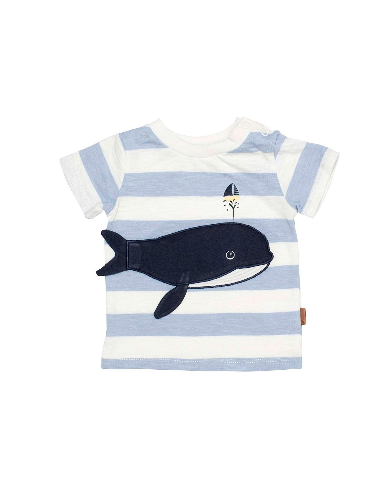 S S Tee Whale Applique 3m 2y