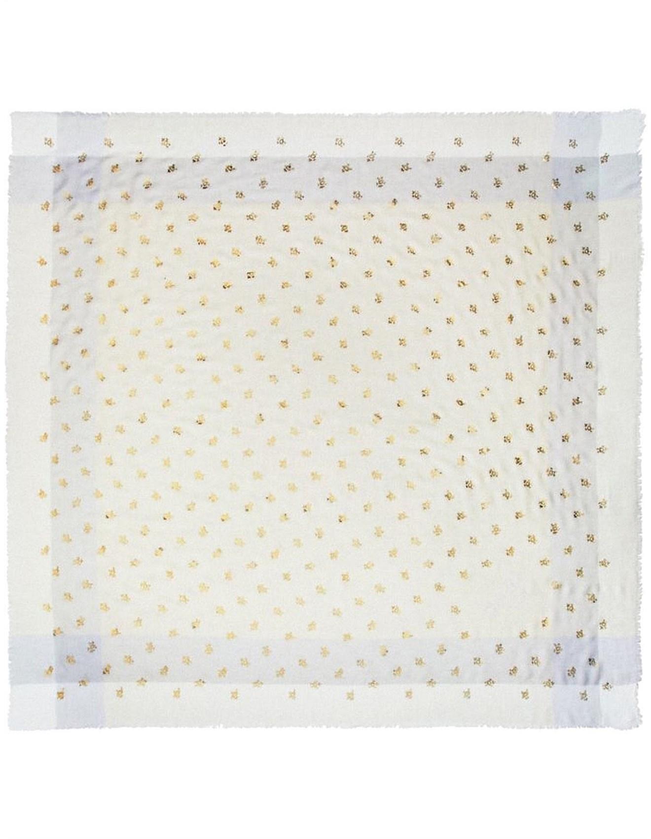 c345806d46 Scarves - ROSE FOIL WINDOWPANE CHALLIS