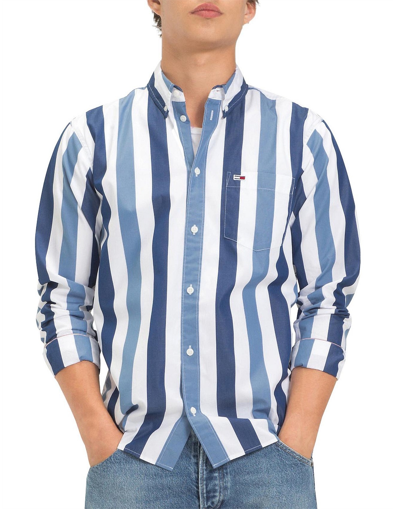 b728ac69a Sale Men's Shirts | Men Designer Clothes Sale | David Jones - TJM TOMMY  CLASSICS STRIPE SHIRT