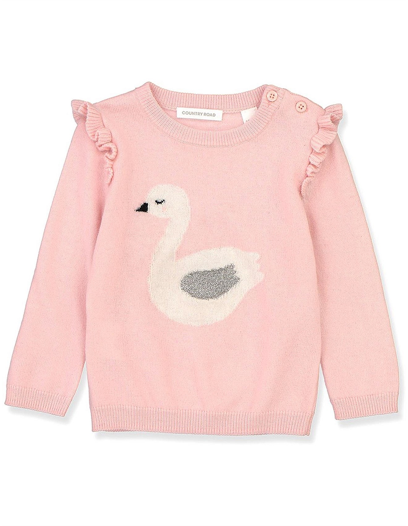 f1a507ea7 Baby Clothing | Buy Baby Clothes & Accessories | David Jones - Frill Swan  Pullover