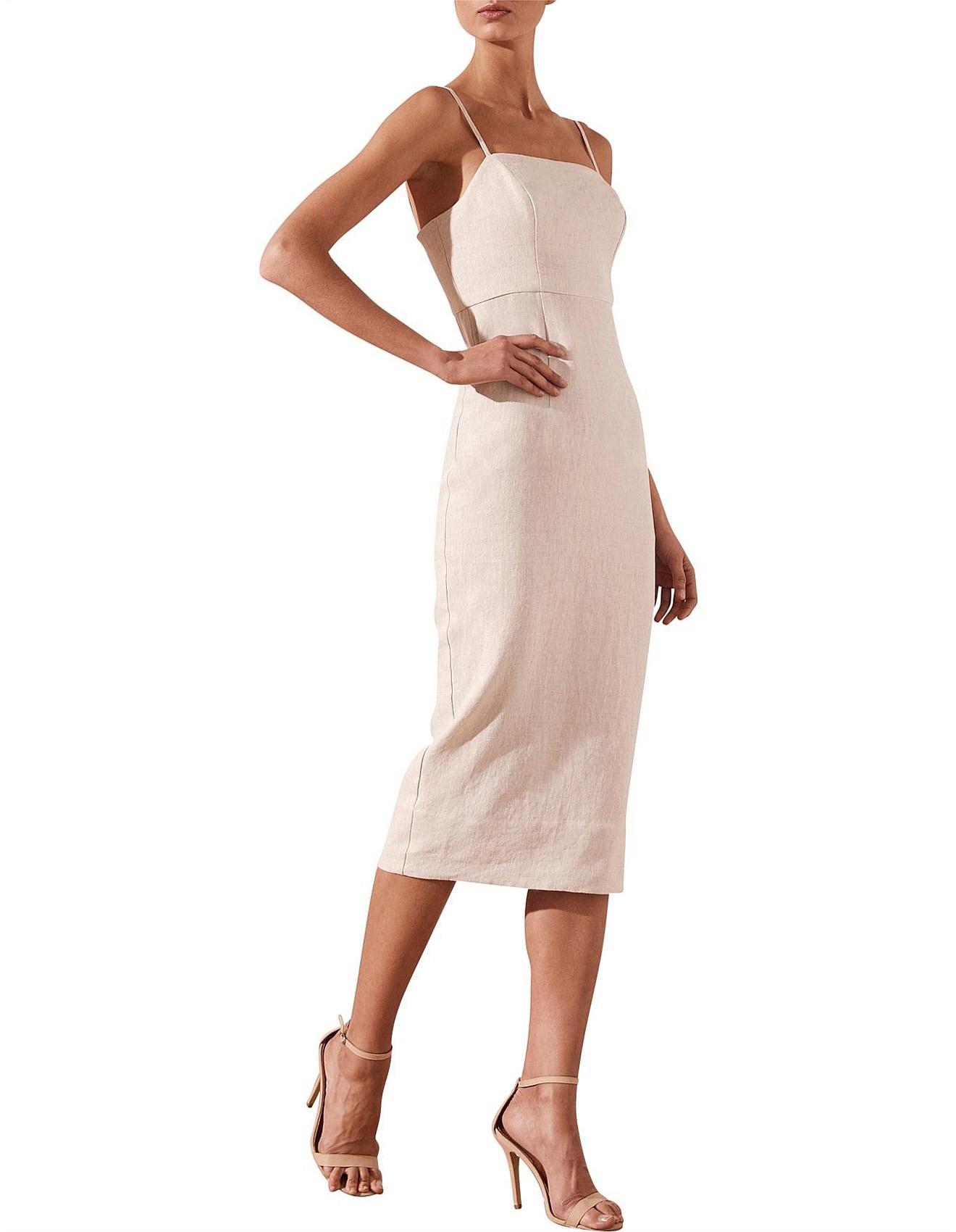 Aluaro Fitted Midi Dress a8d1e3f34a7d