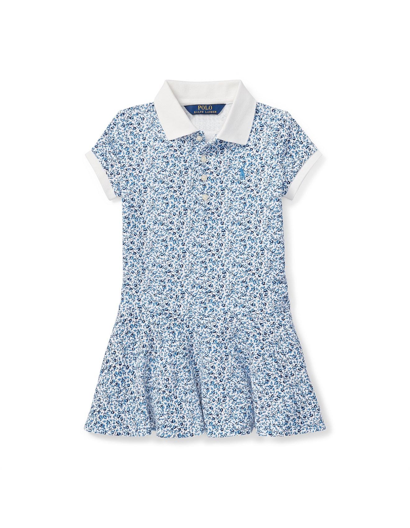 2e08b2e8221 Girls Clothing - Floral Stretch Mesh Polo Dress (2-3 Years)