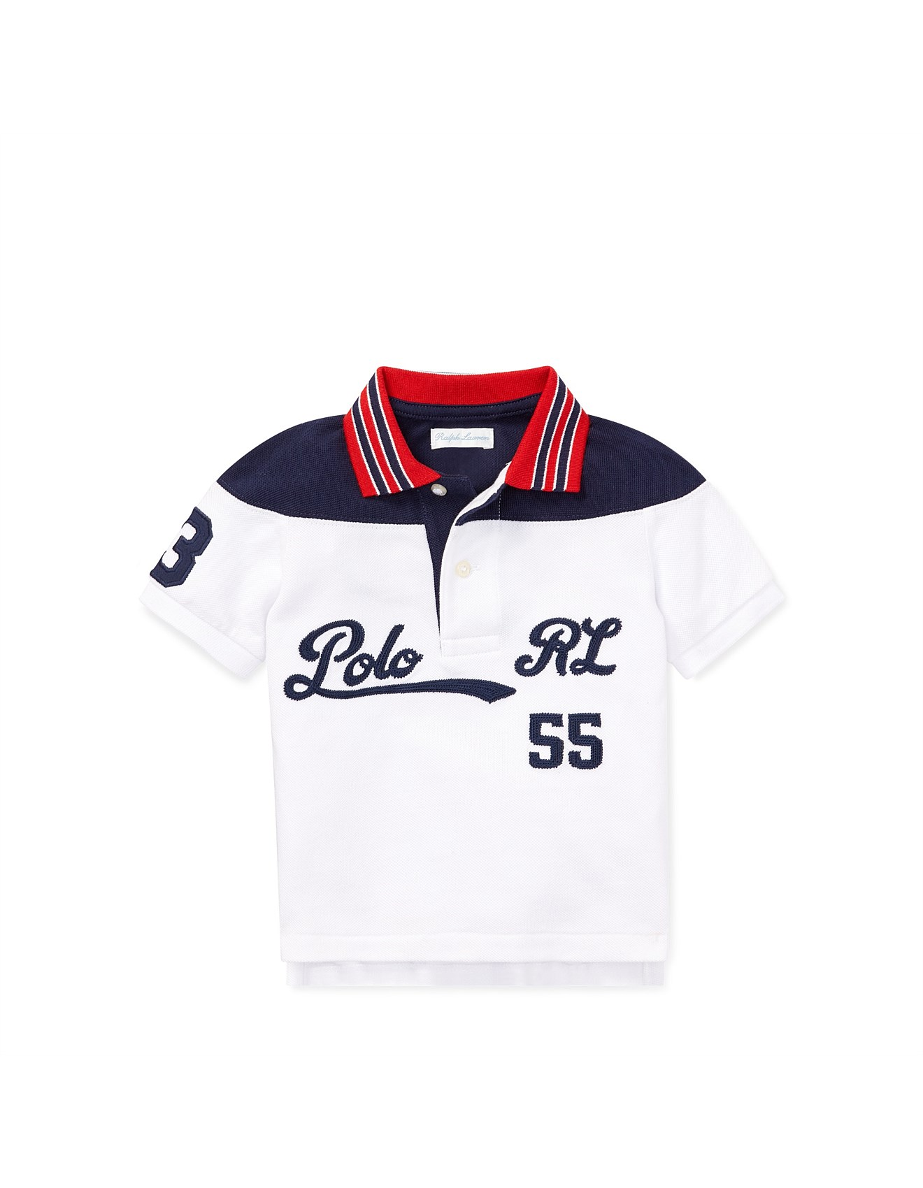 510505f69f Embroidered Cotton Mesh Polo (6-24 Months)
