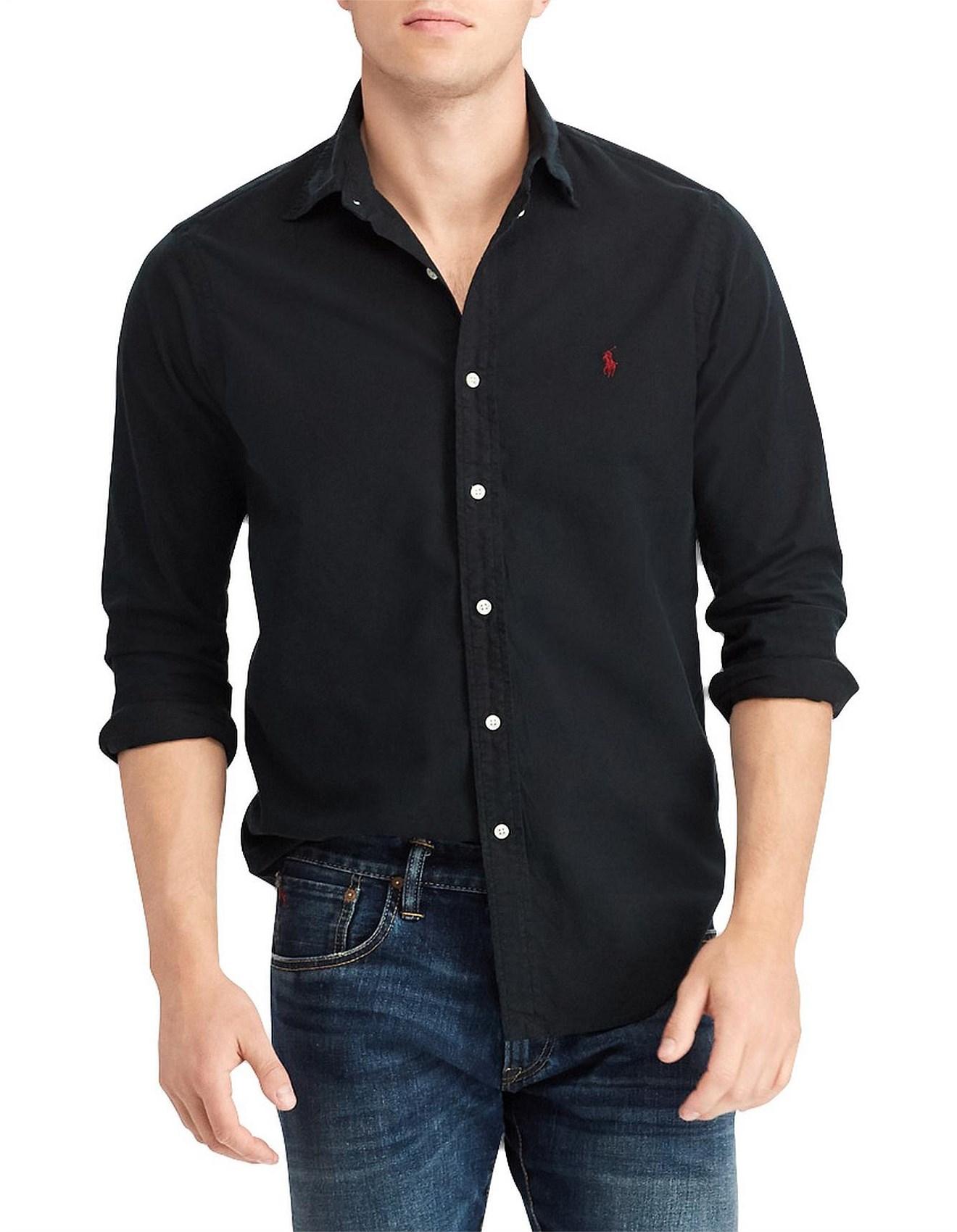 059066919 Polo Ralph Lauren | Buy Polo Ralph Lauren Online | David Jones - LONG SLEEVE  OXFORD SPORT SHIRT