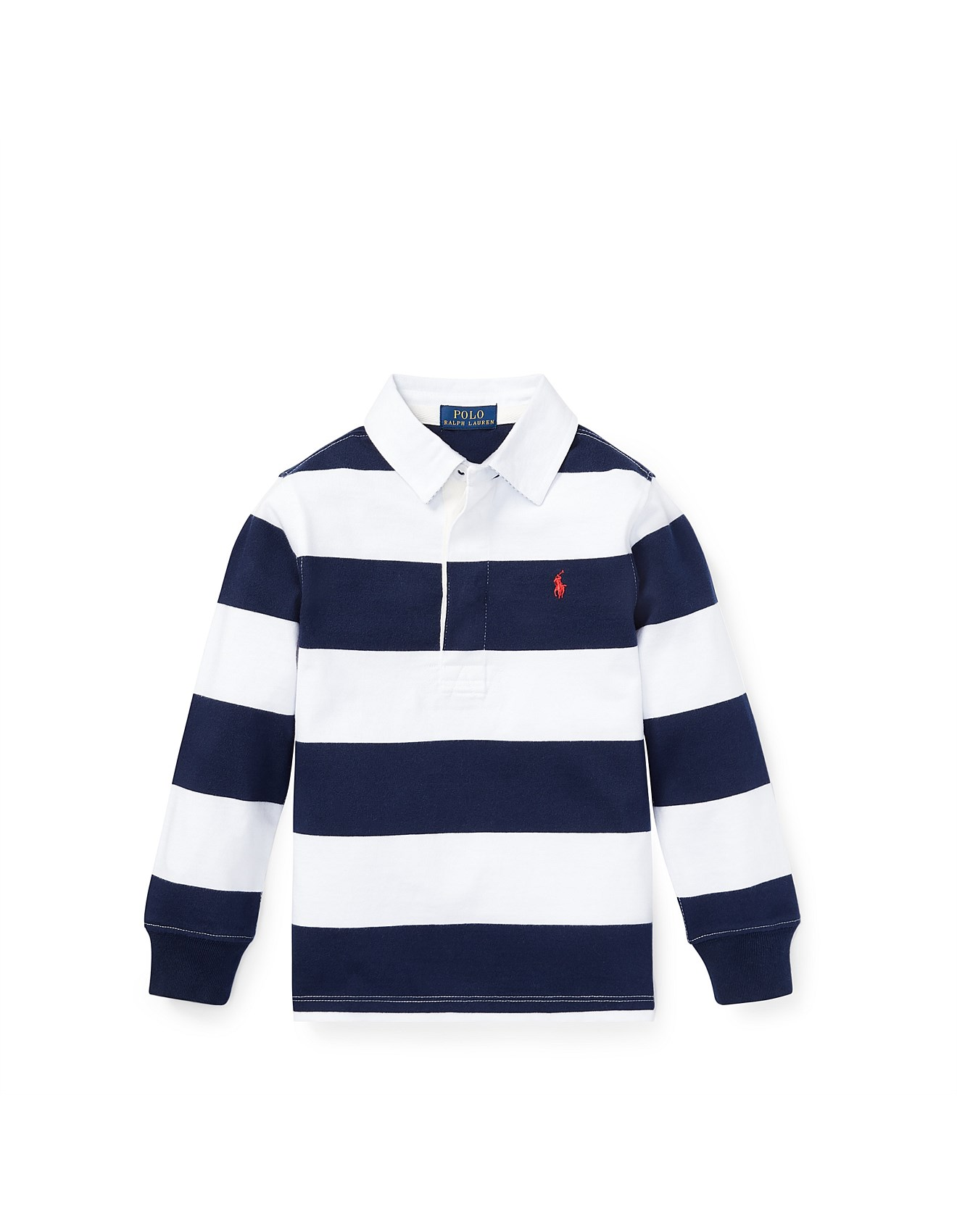 cb03d83bee Boy's Tops & T-Shirts | Buy Kids Tops Online | David Jones - Striped Cotton  Jersey Rugby (2-3 Years)