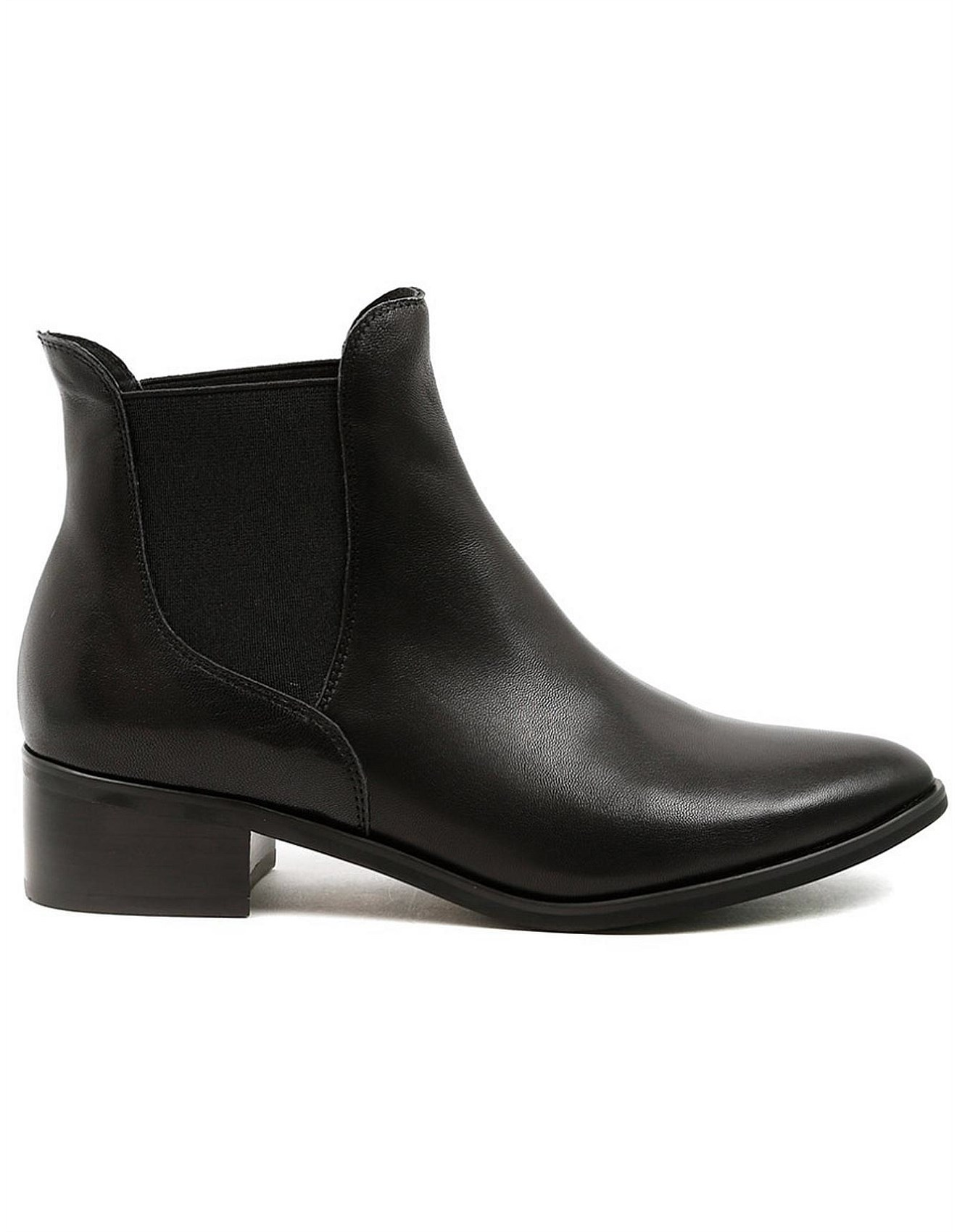 Midas - Pantha Black Leather Ankle Boots