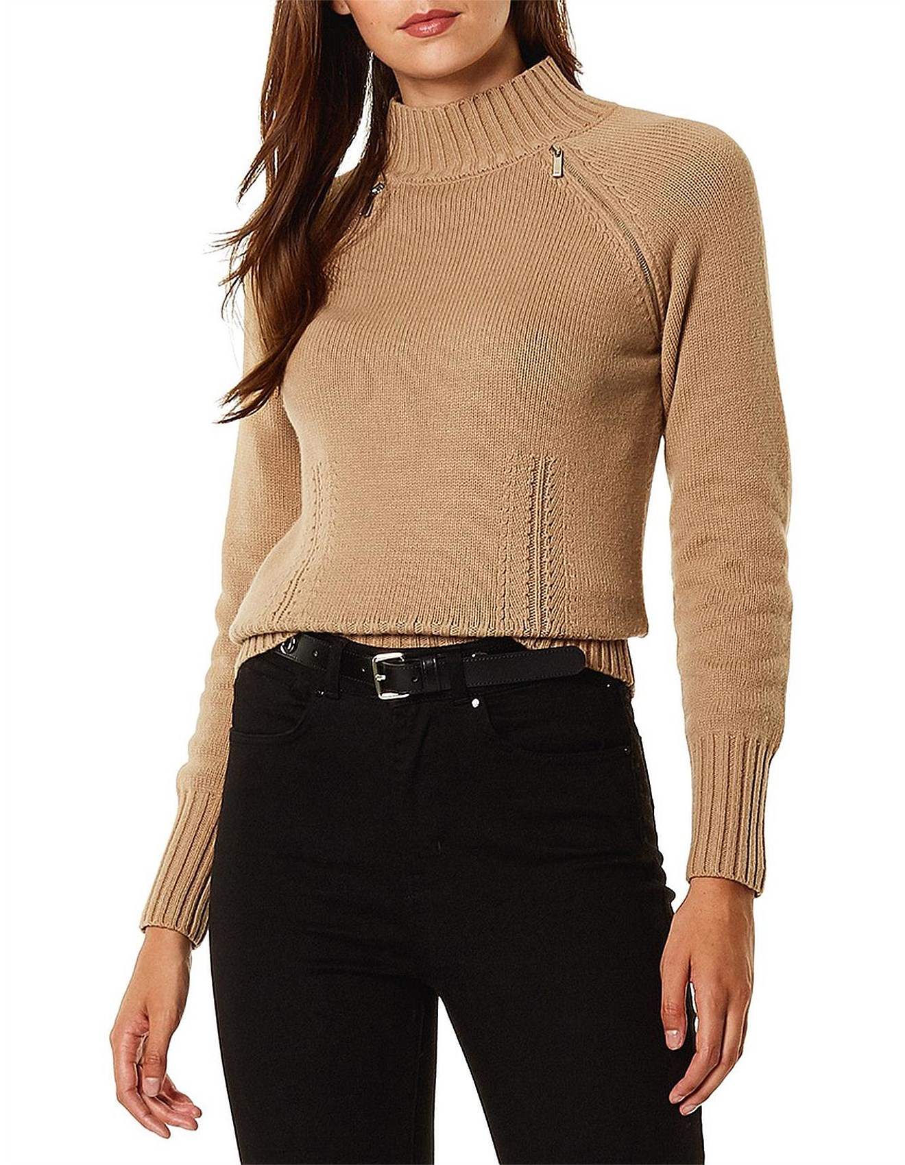 53cd23101dd2b9 Karen Millen | Buy Karen Millen Clothing Online | David Jones - HIGH NECK  WOOL JUMPER