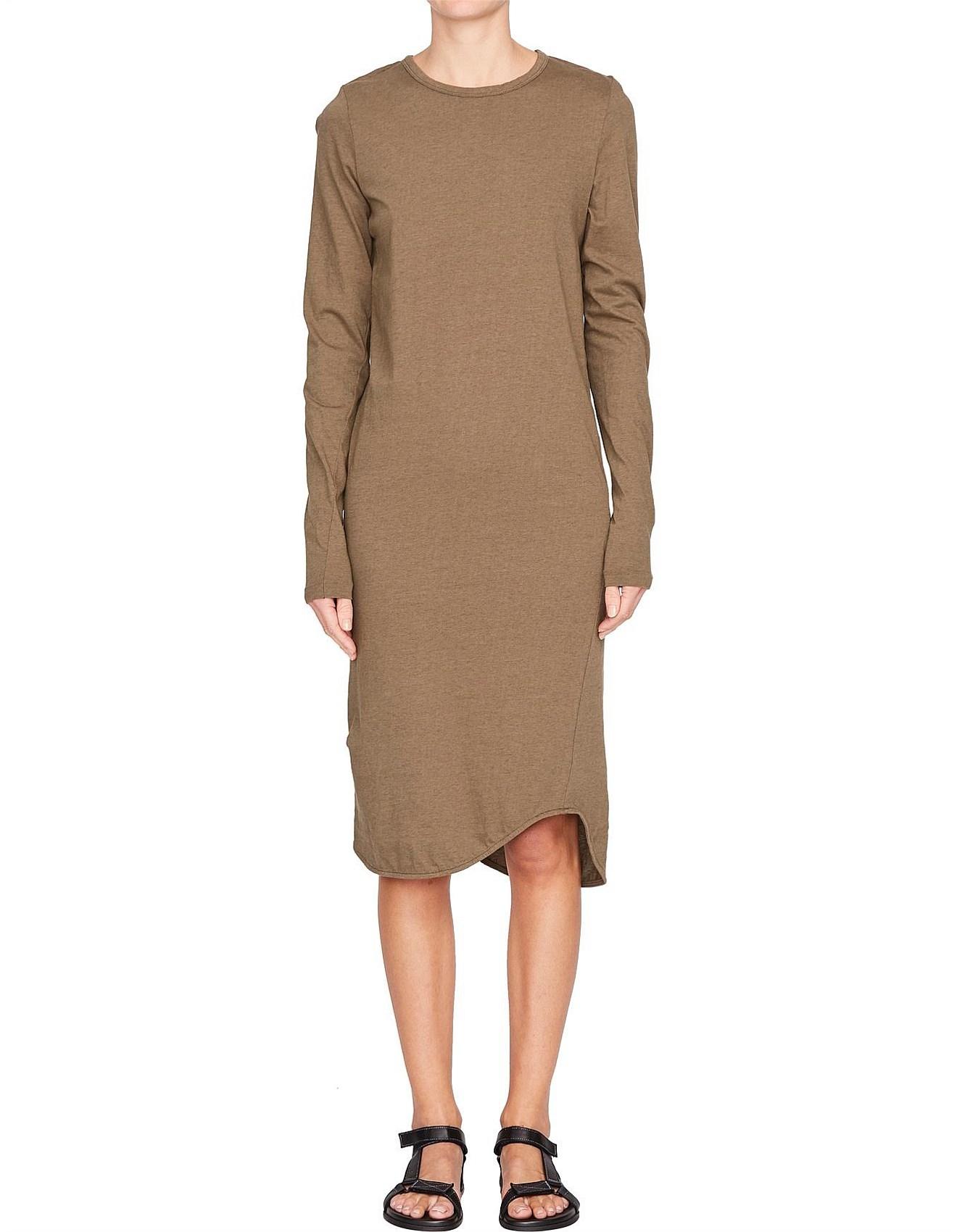 350818155f84 French Seam Long Sleeve T.Shirt Dress
