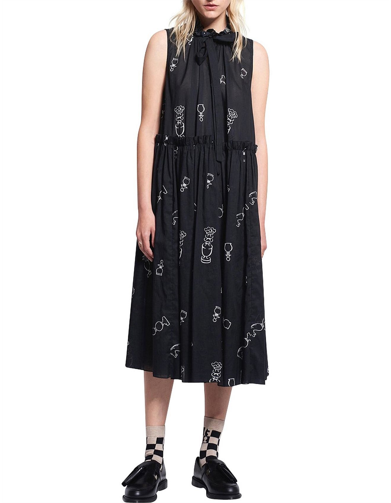 f382757704a Queens Knight Cotton Voile Dead Draw Dress
