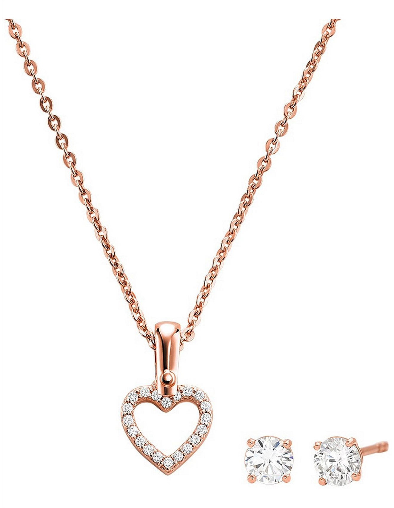 Women S Jewellery Earrings Necklaces Rings Online David Jones Premium Rose Gold Set