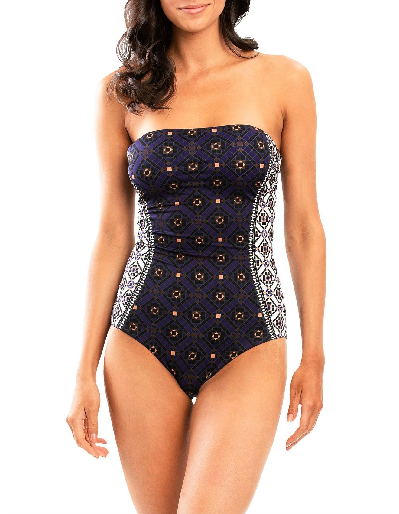 2c3366f438 One Piece Swimsuit Sale | Swimwear Sale | David Jones - Enchant Bandeau One  Piece