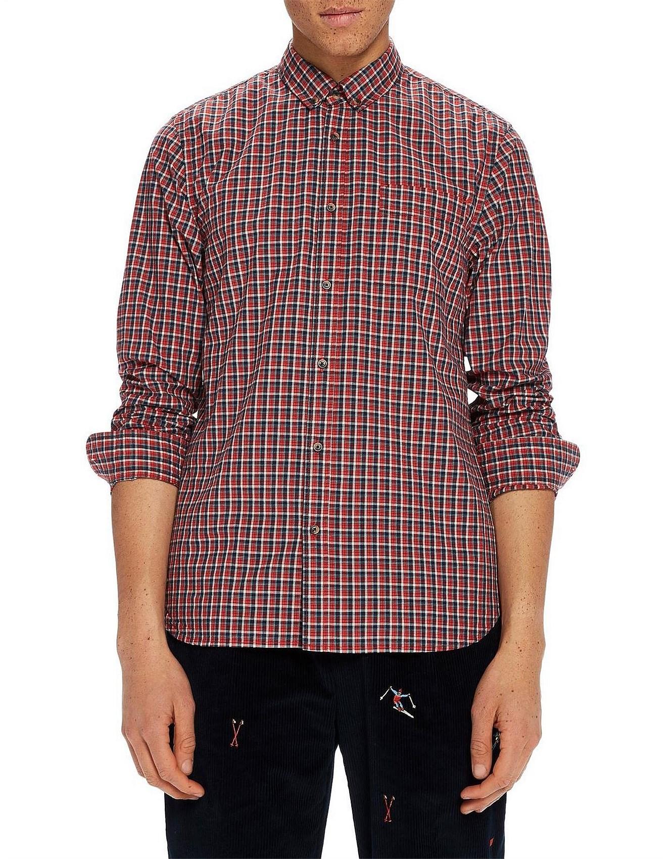 21cc4c1297 Men's Fashion Sale | Suits, Business Shirts & More | David Jones - REGULAR  FIT Multicoloured check shirt