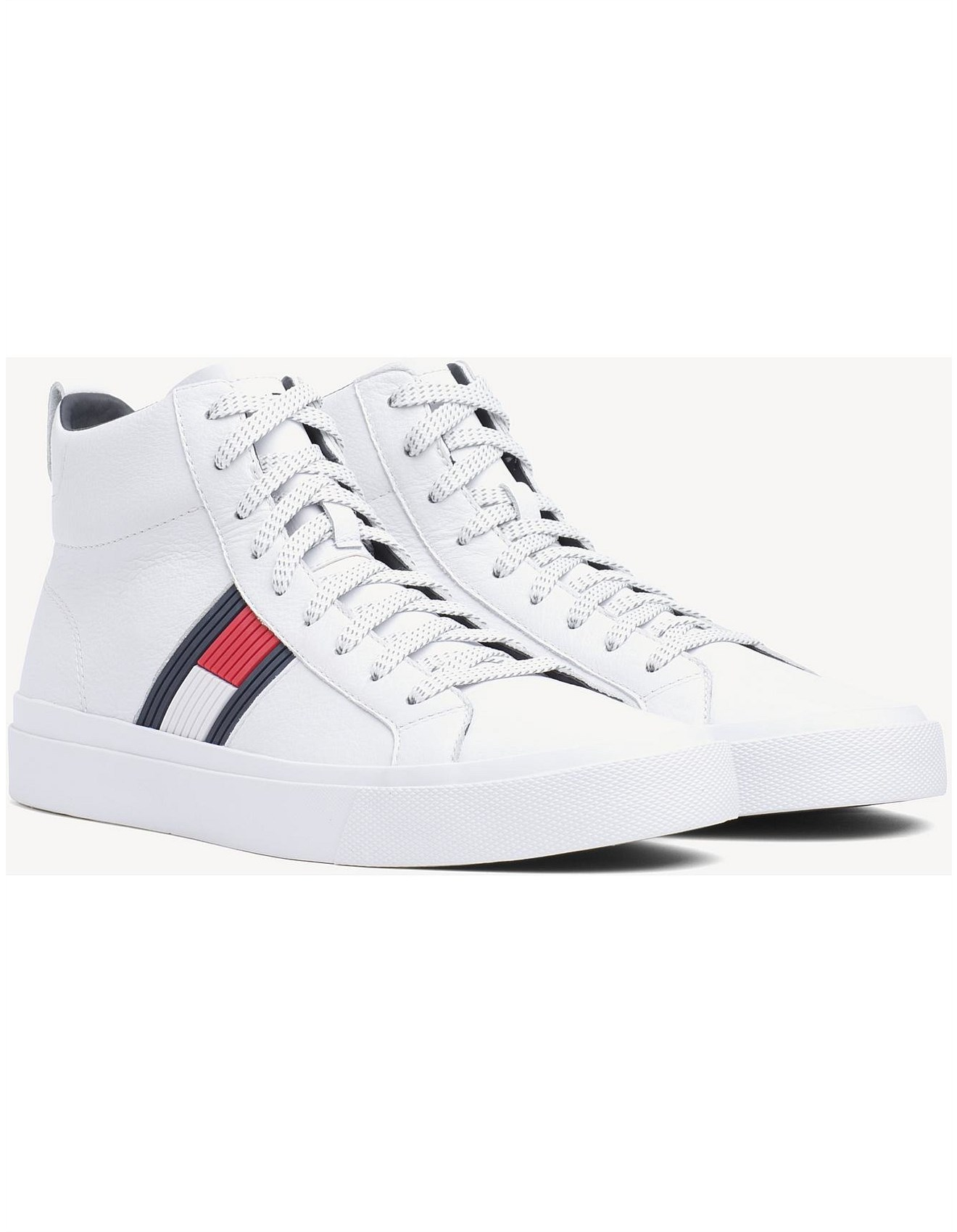 2e2141f51eed FLAG DETAIL HIGH LEATHER SNEAKER