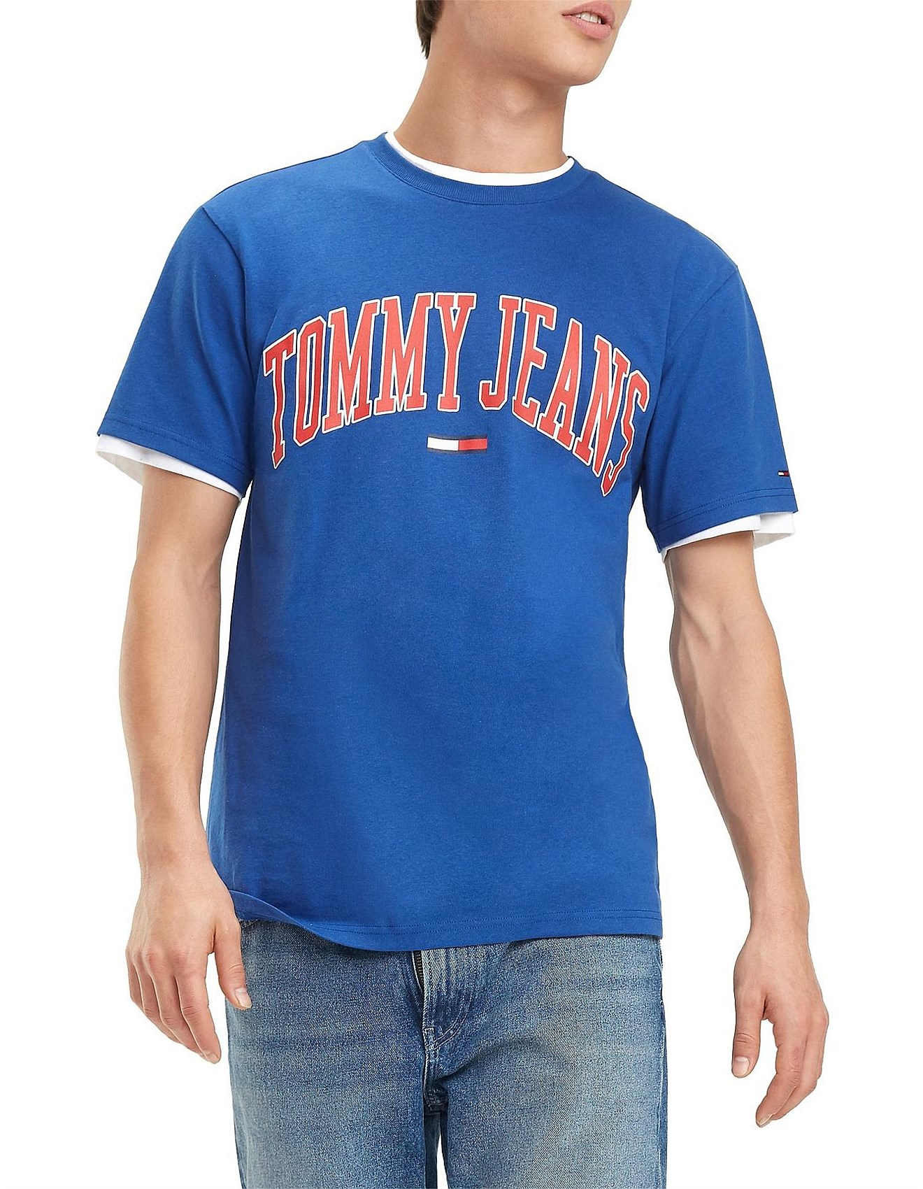 416f60ea Men's T-Shirts Sale | Long Sleeved & Short Sleeved | David Jones - TJM  COLLEGIATE LOGO TEE