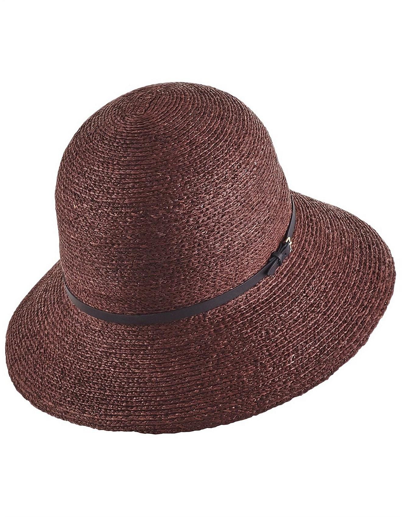 dfff8ba21e559 Besa 9 Rollable Raffia Braid Hat