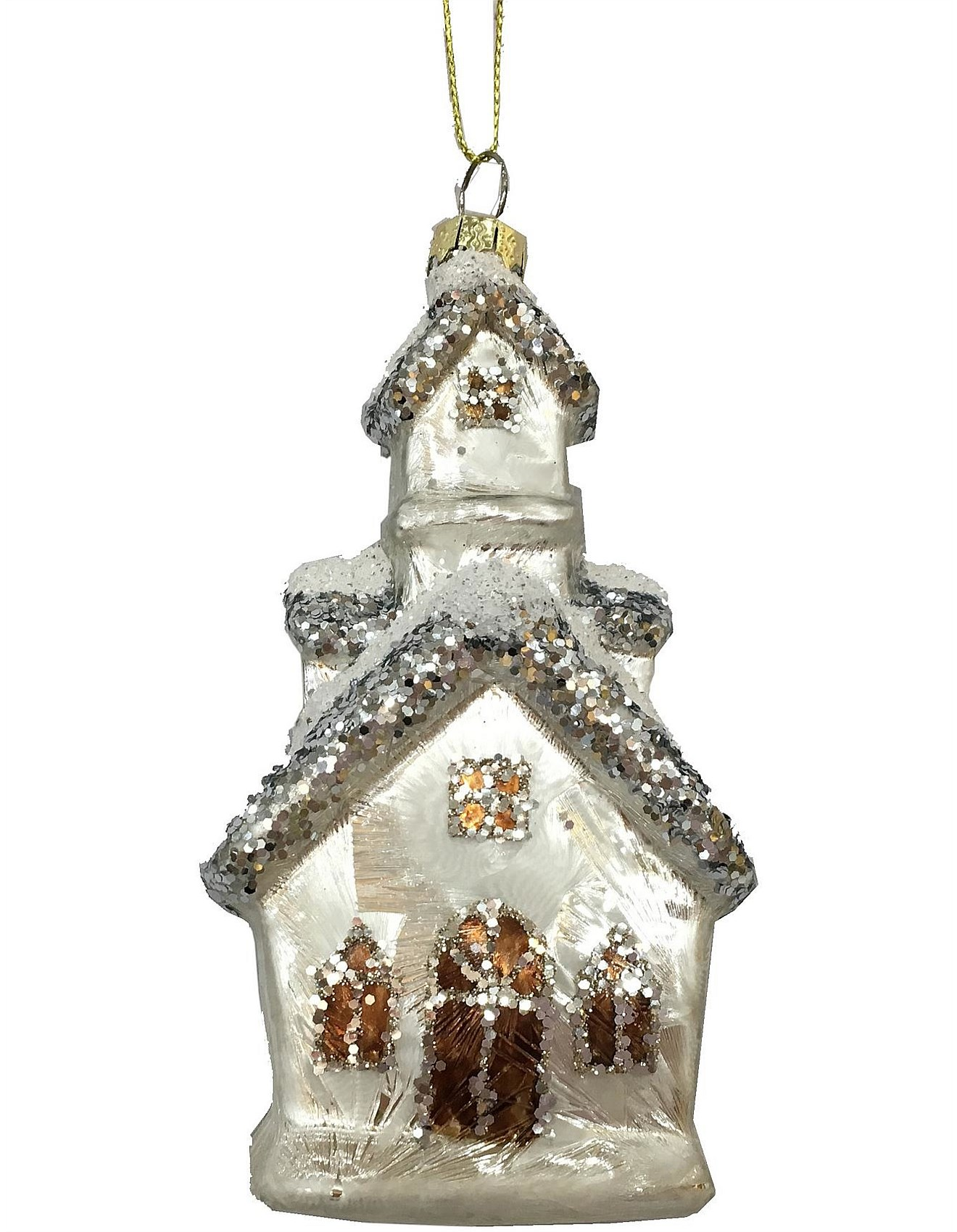 Church Christmas Tree Ornament