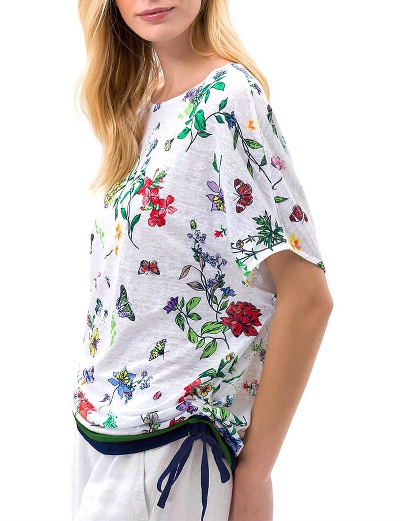 first look latest discount 2018 shoes Rachel Floral Print T Shirt